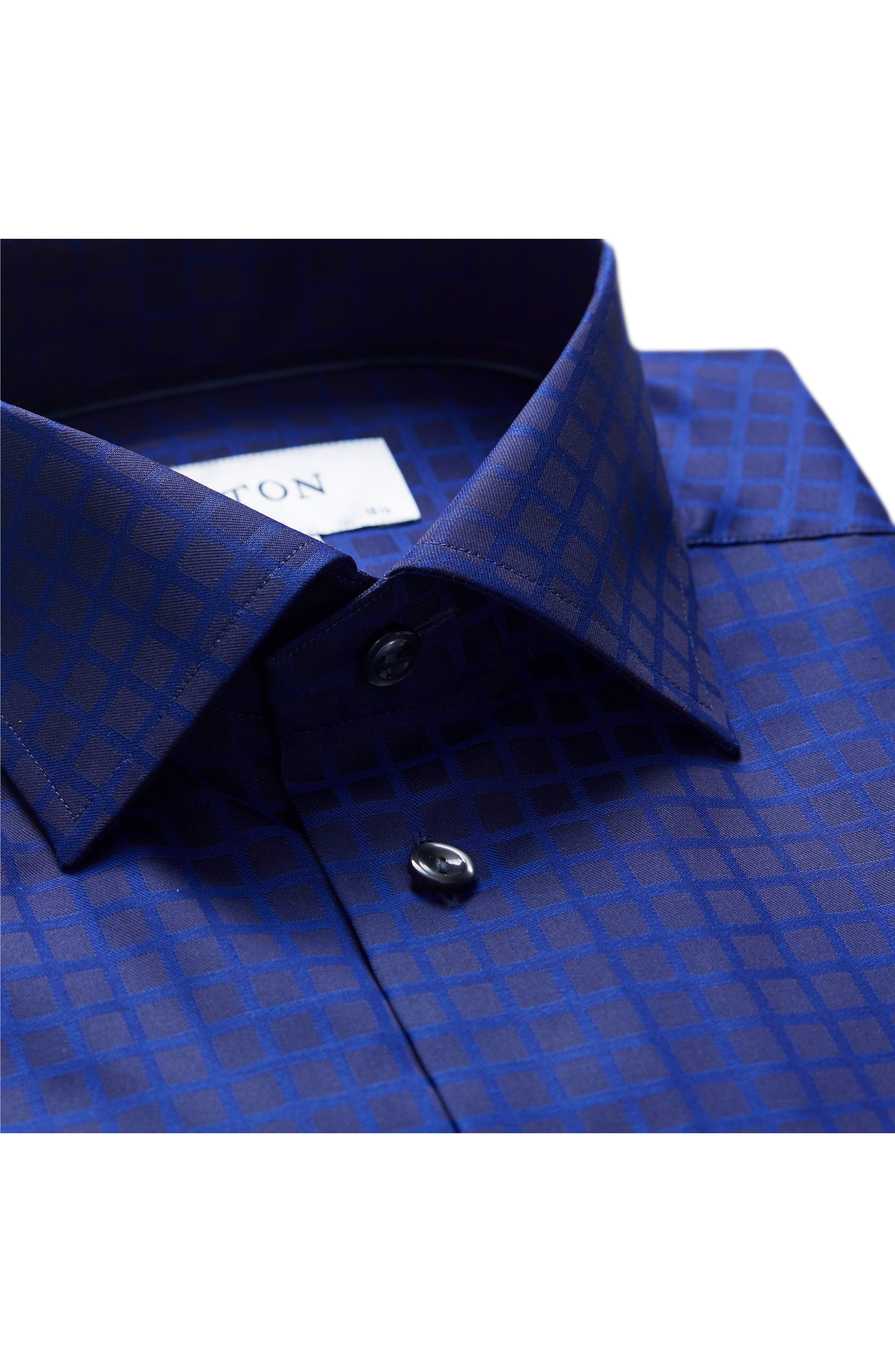 Slim Fit Check Dress Shirt,                             Alternate thumbnail 3, color,                             400