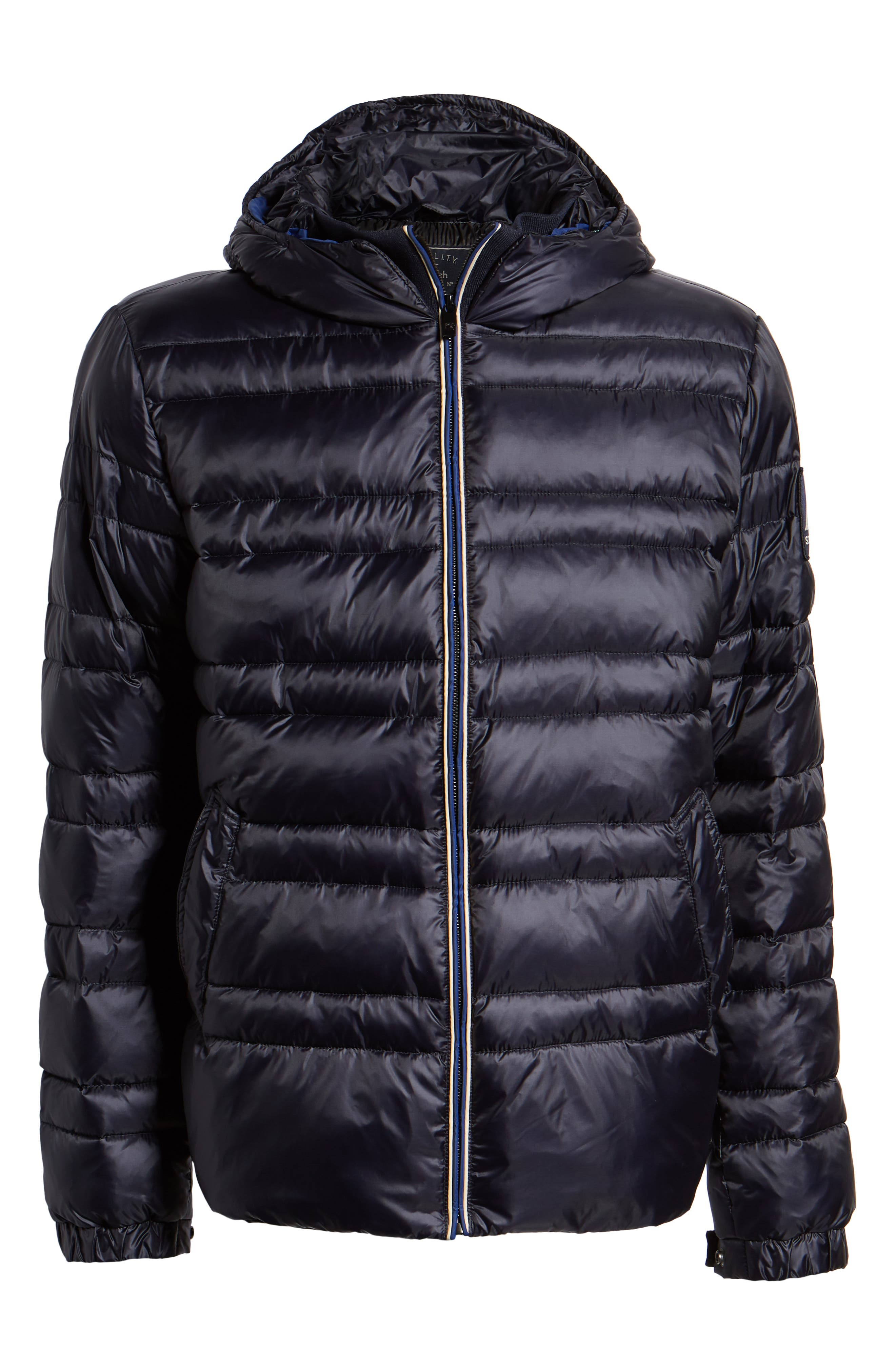 Quilted Puffer Jacket,                             Alternate thumbnail 6, color,                             NIGHT