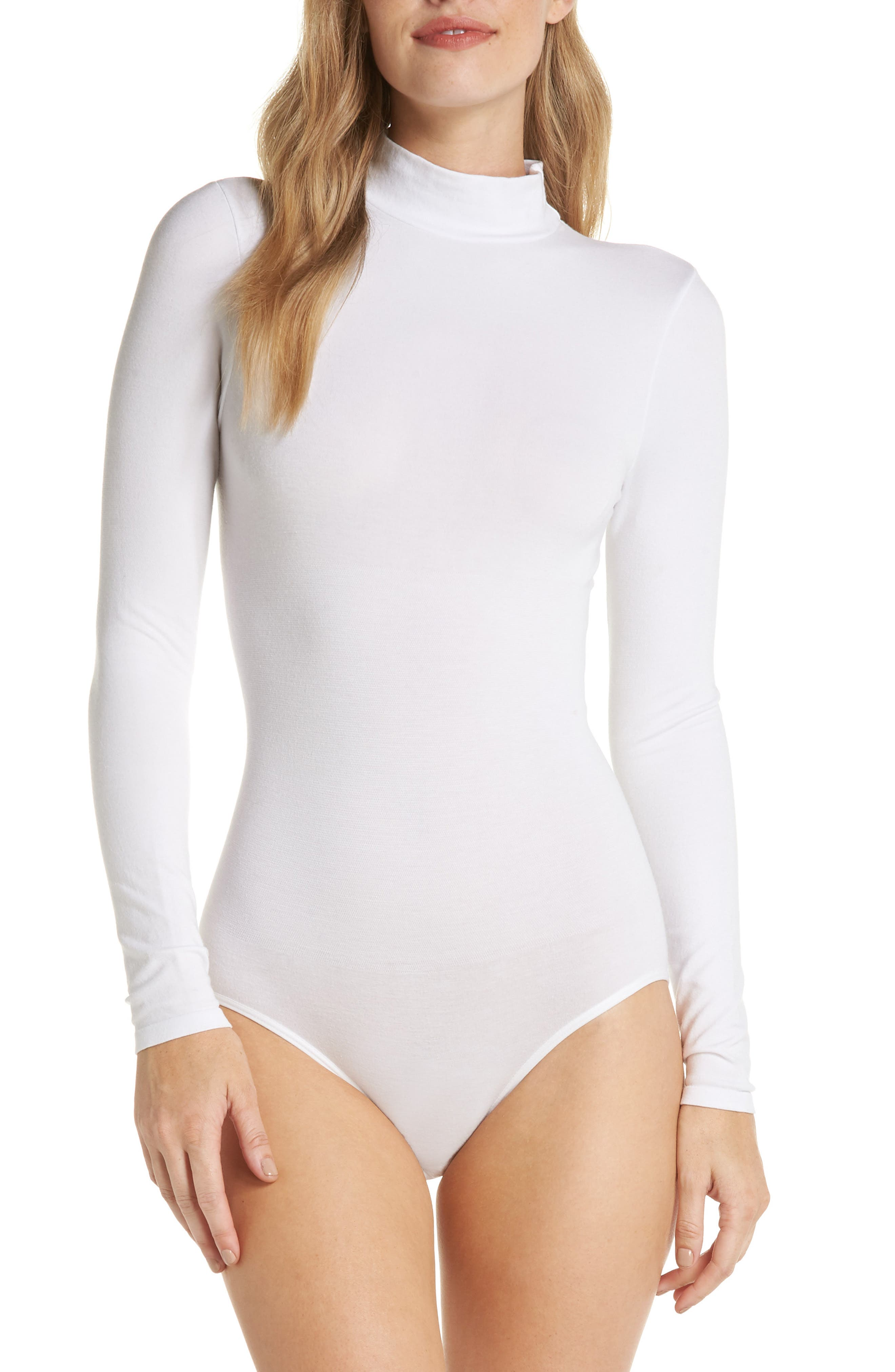 'Madelyn' Seamless Bodysuit,                         Main,                         color, WHITE