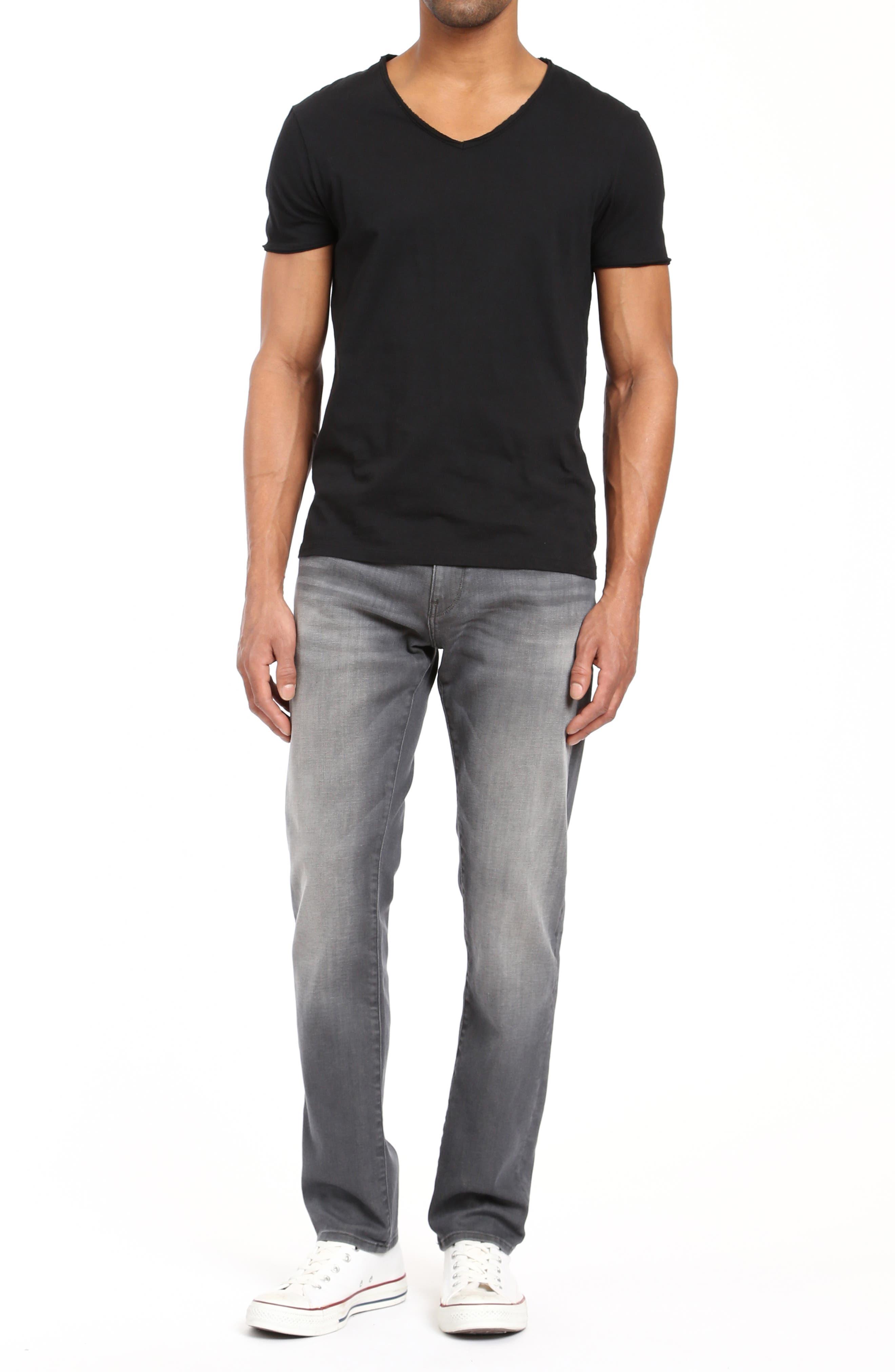 Zach Straight Leg Jeans,                             Alternate thumbnail 4, color,                             LIGHT GREY BROOKLYN