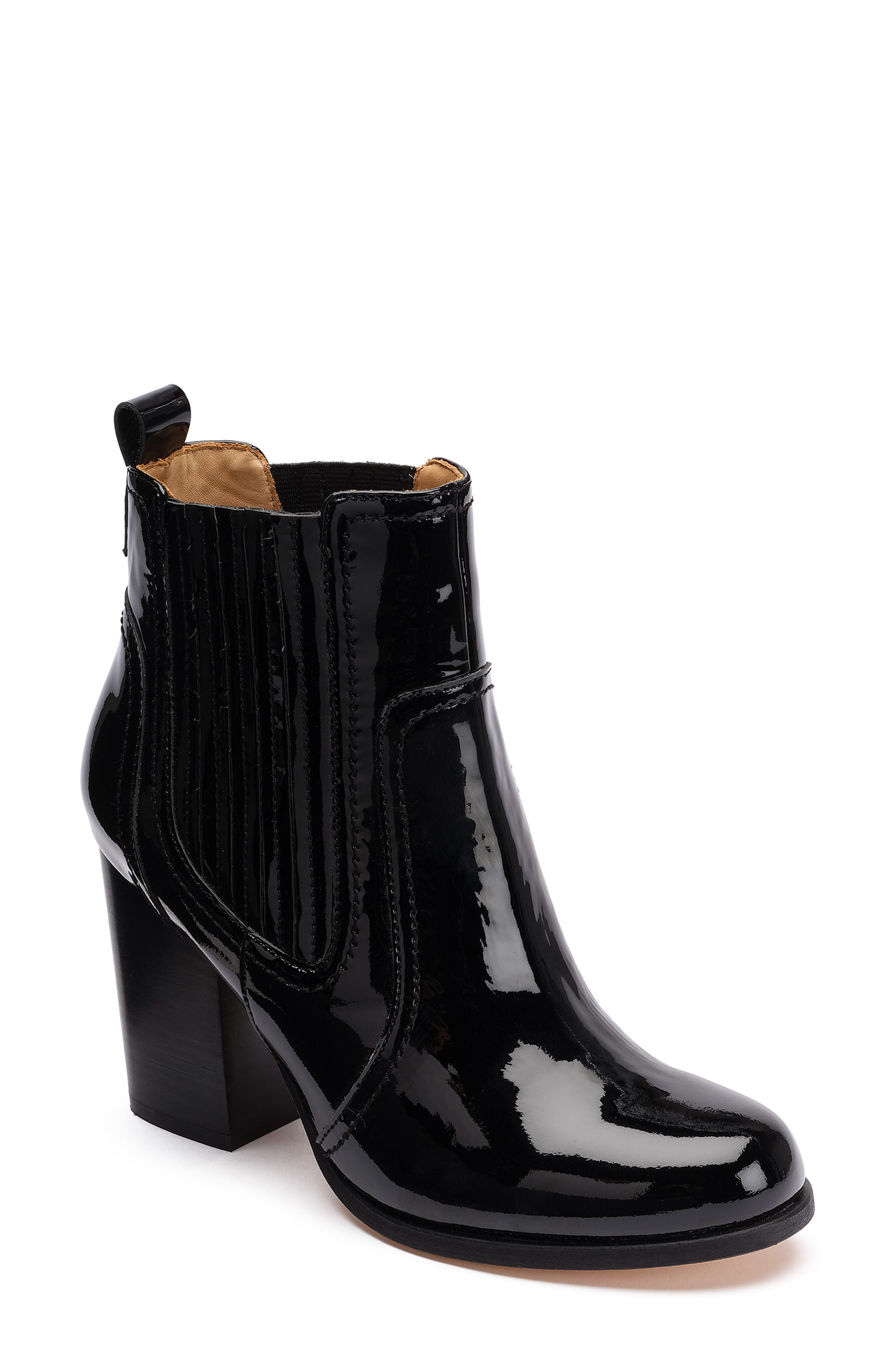 BILL BLASS Bianca Bootie in Black/ Patent Leather