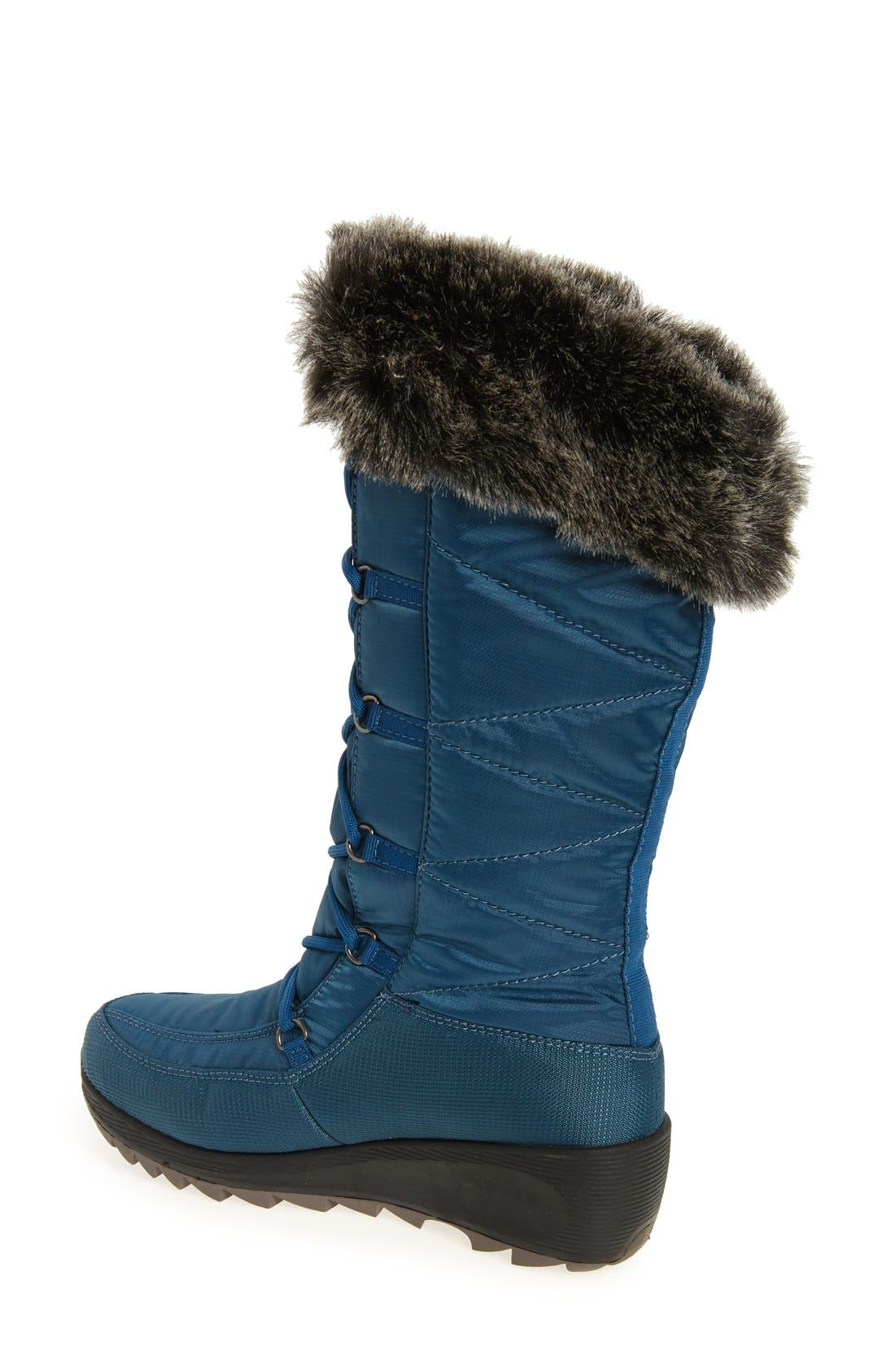 Pinot Waterproof Boot with Faux Fur Cuff,                             Alternate thumbnail 4, color,