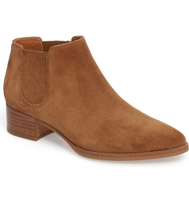 Seville Bootie,                         Main,                         color, TEDDY BROWN SUEDE