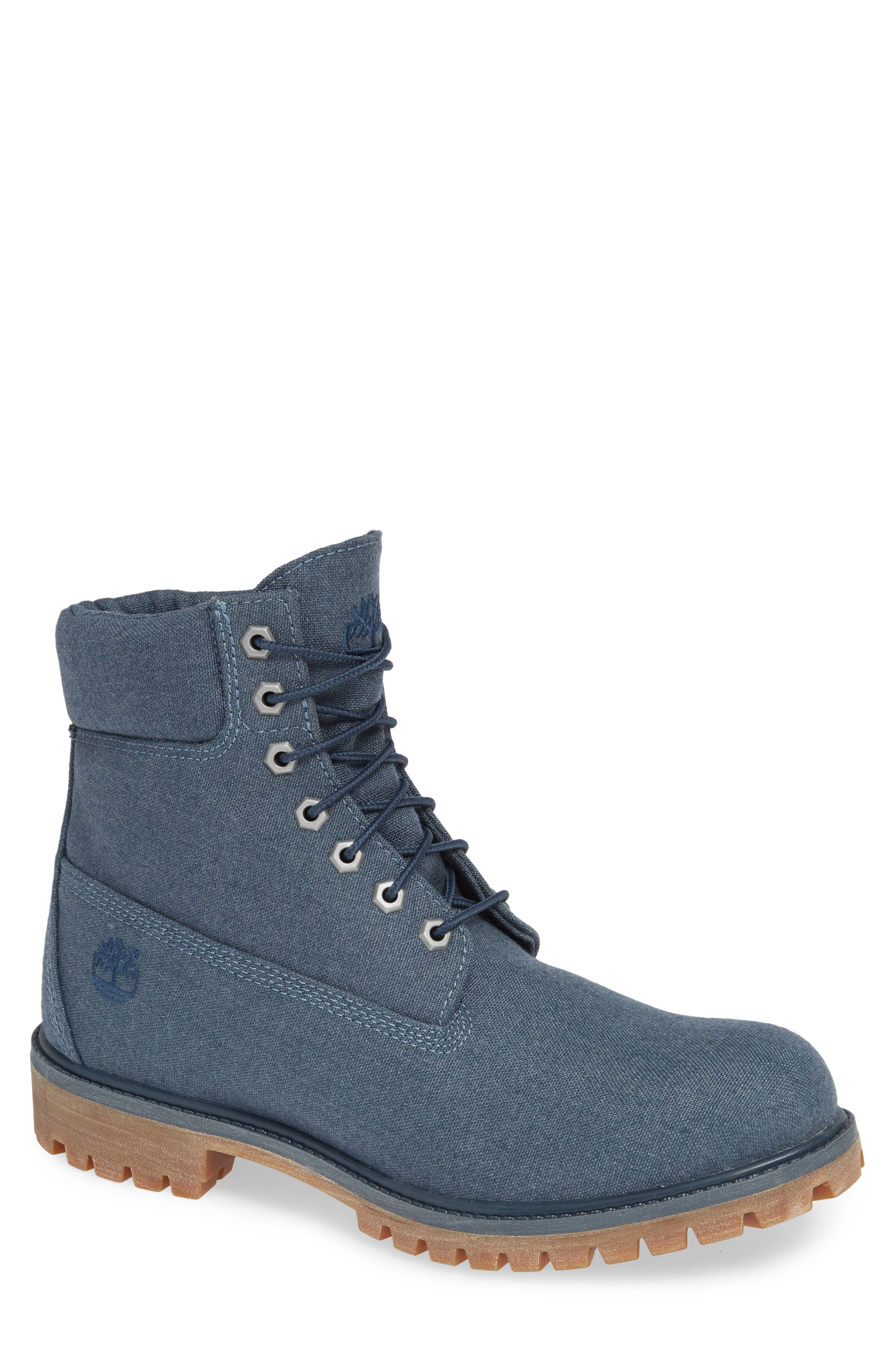 Premium Plain Toe Boot,                         Main,                         color, MIDNIGHT NAVY THREAD