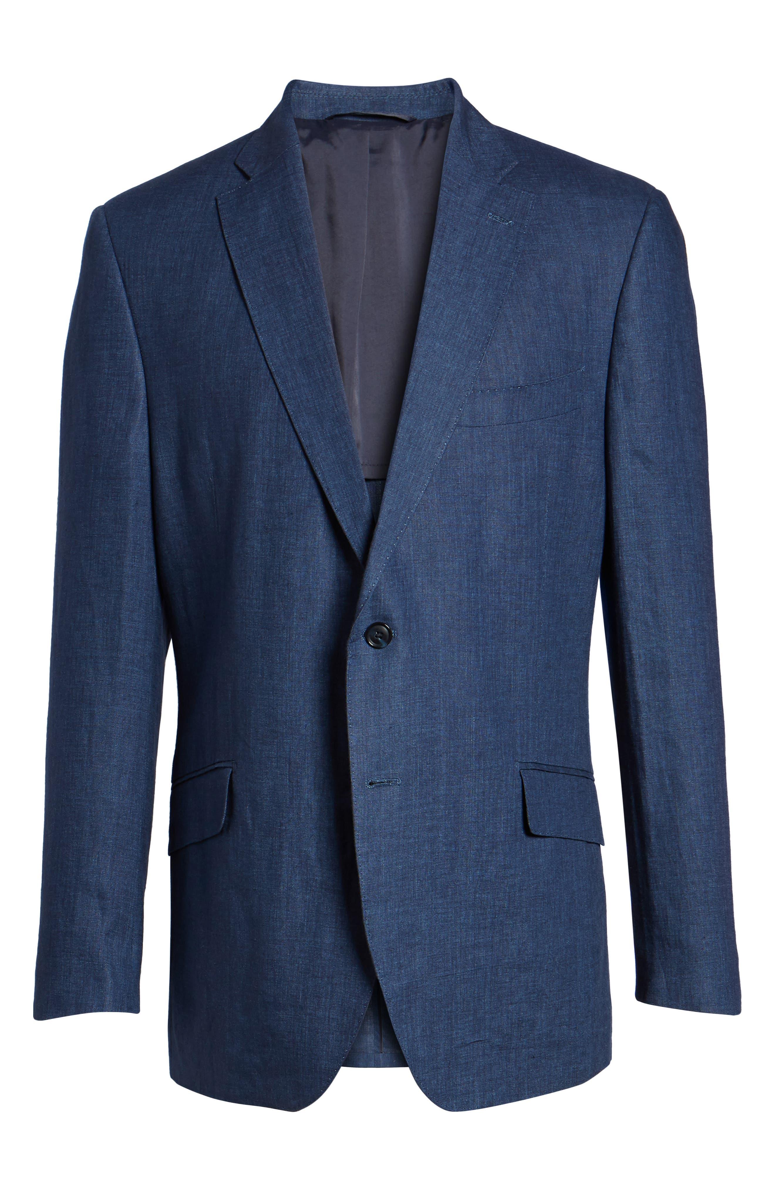 Jack AIM Classic Fit Linen Blazer,                             Alternate thumbnail 5, color,                             NAVY