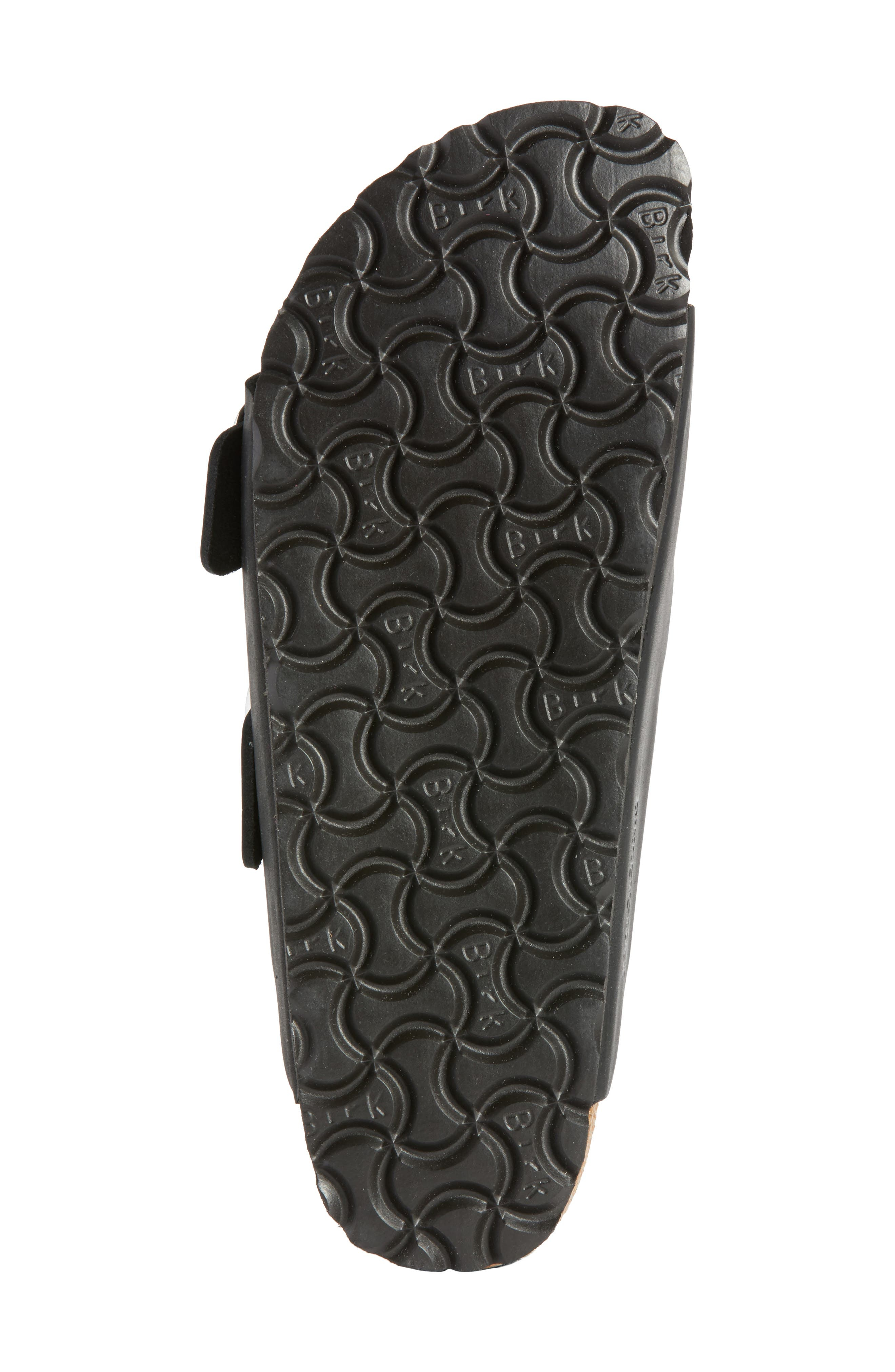 Arizona Big Buckle Slide Sandal,                             Alternate thumbnail 6, color,                             BLACK LEATHER