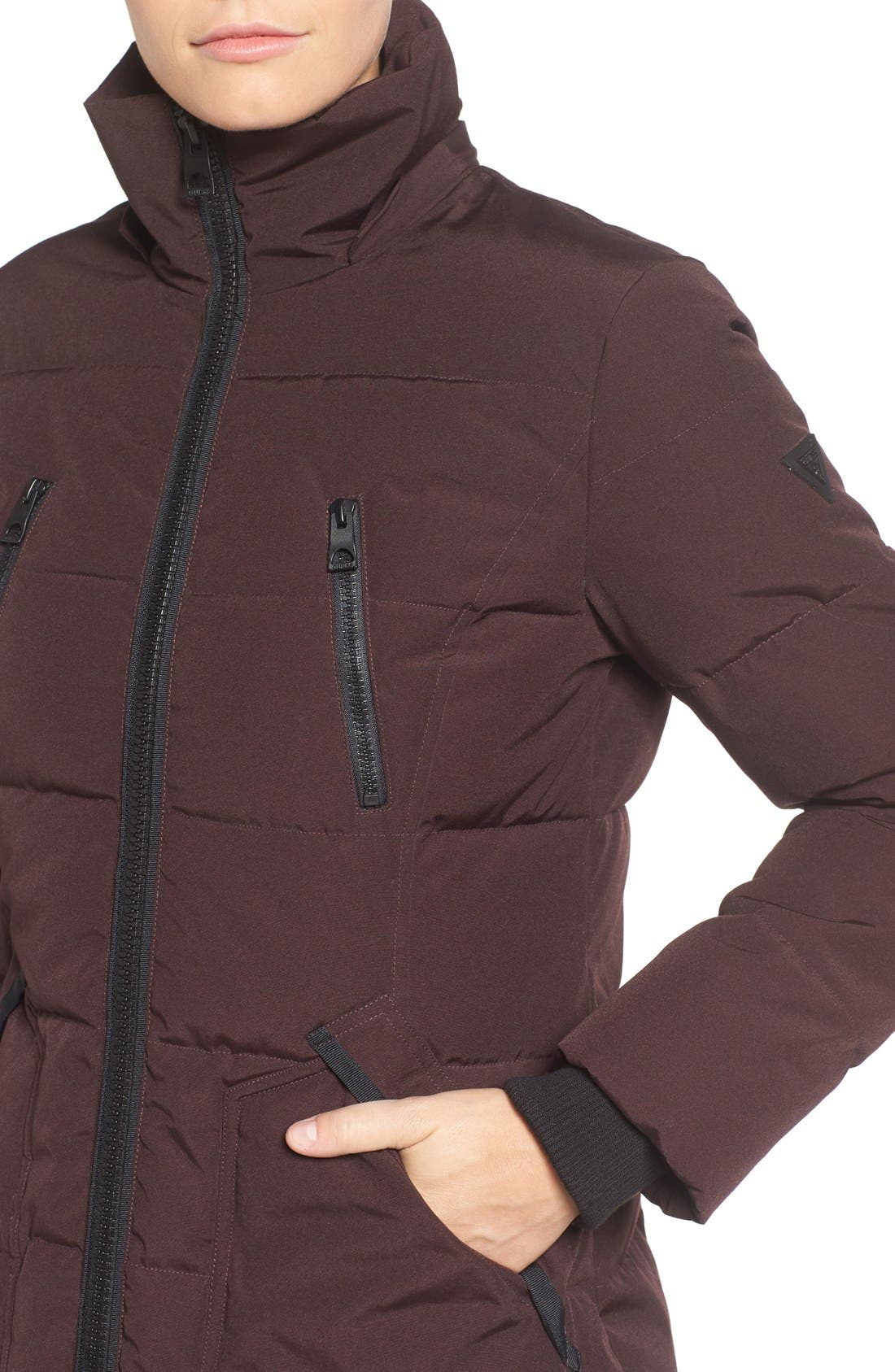 'Expedition' Quilted Parka with Faux Fur Trim,                             Alternate thumbnail 20, color,