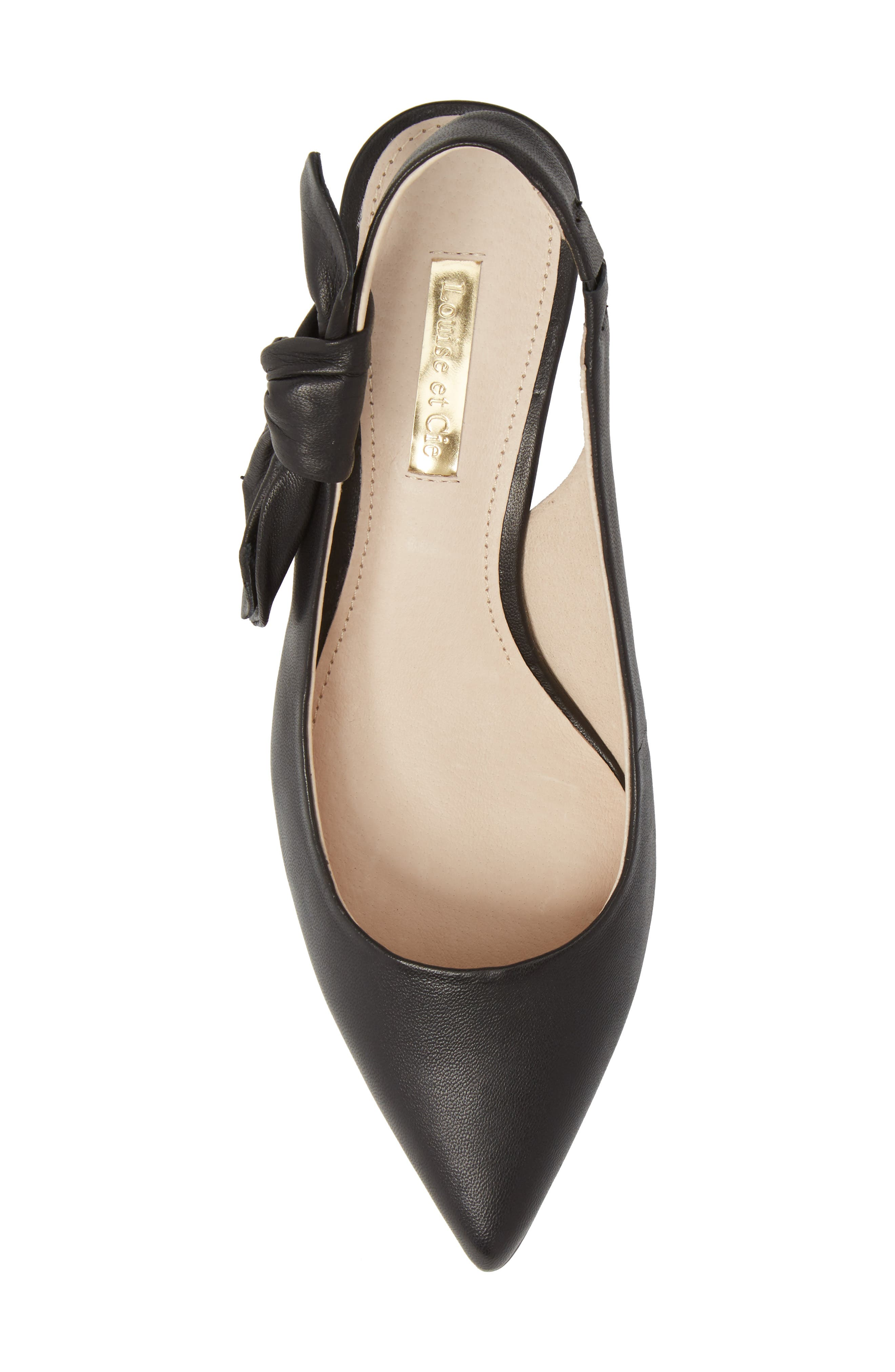Jasilen Slingback Pump,                             Alternate thumbnail 5, color,                             BLACK LEATHER