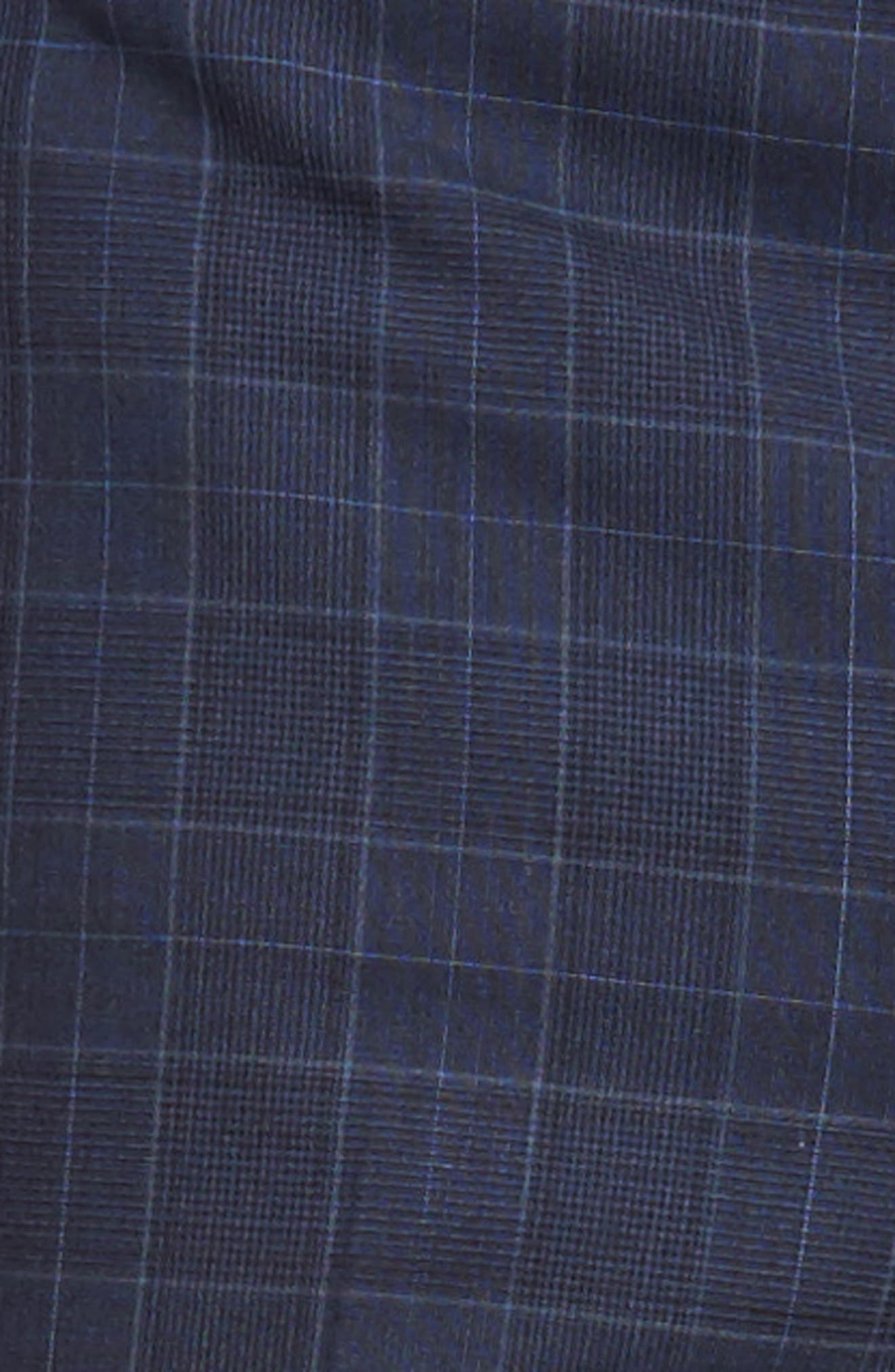 HICKEY FREEMAN,                             Classic B Fit Plaid Wool Suit,                             Alternate thumbnail 9, color,                             400