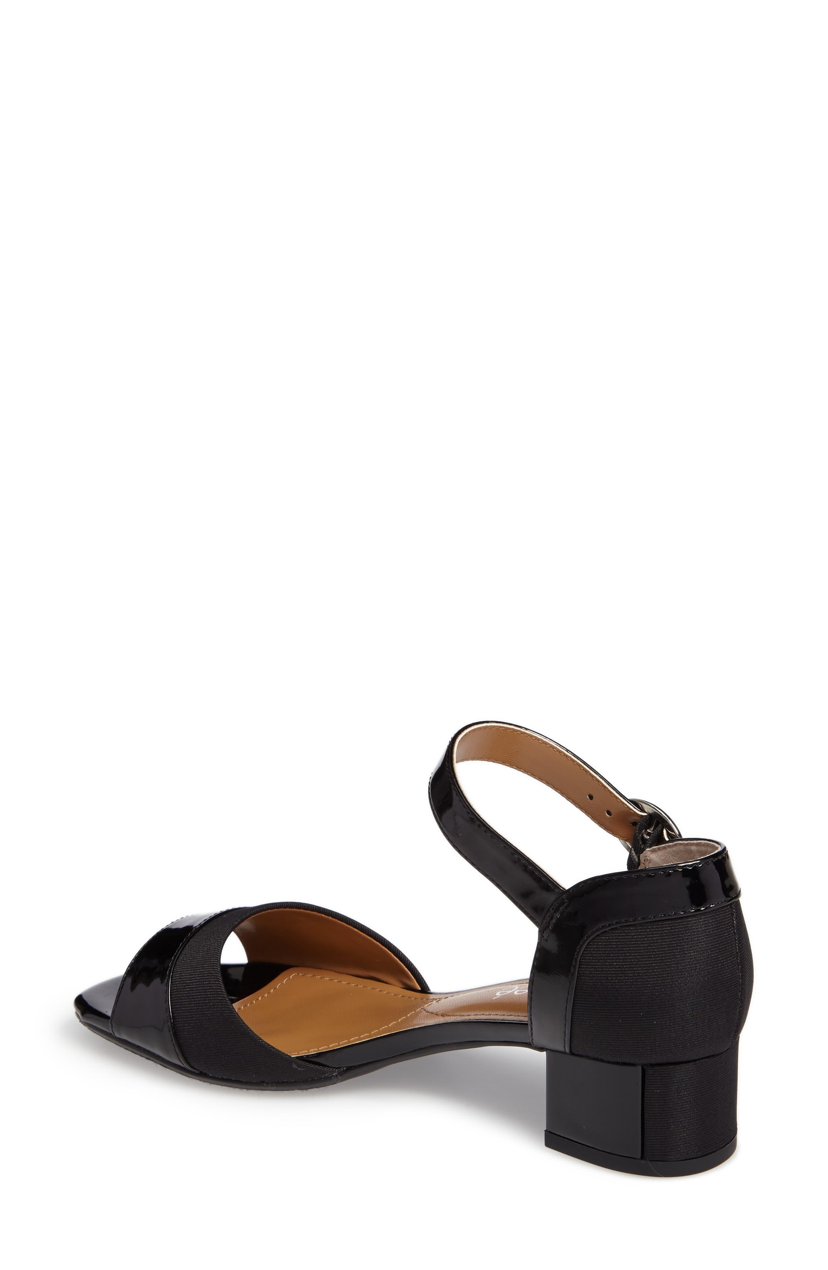 Pebblebeach Block Heel Sandal,                             Alternate thumbnail 2, color,                             001