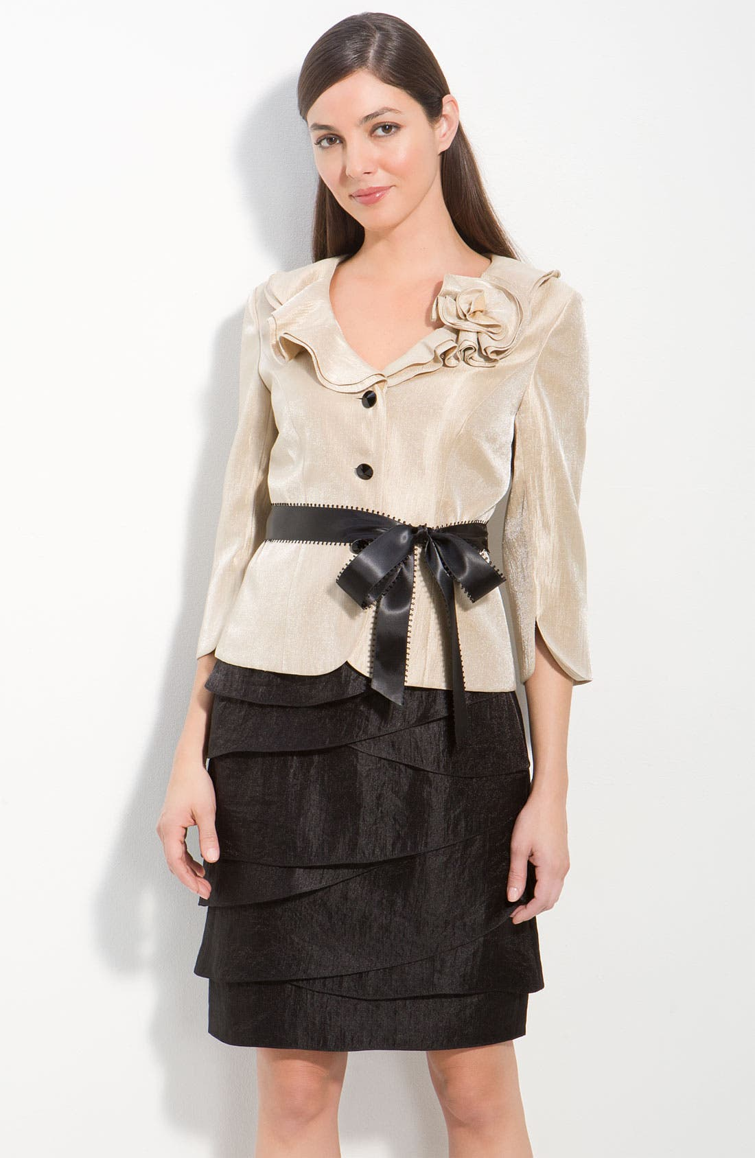 Shimmer Crepe Jacket,                             Alternate thumbnail 3, color,                             250