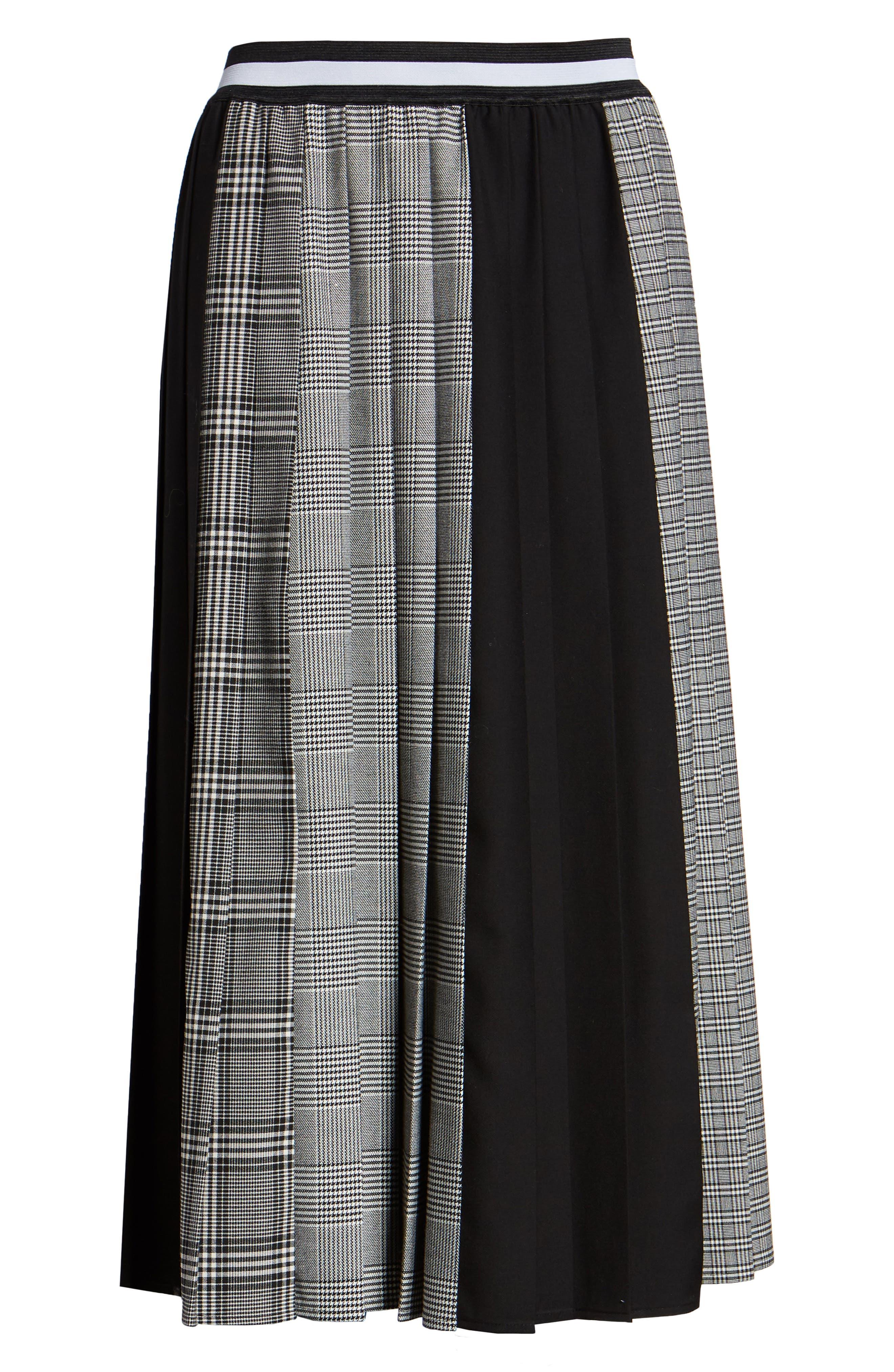 Plaid A-Line Skirt,                             Alternate thumbnail 6, color,                             001