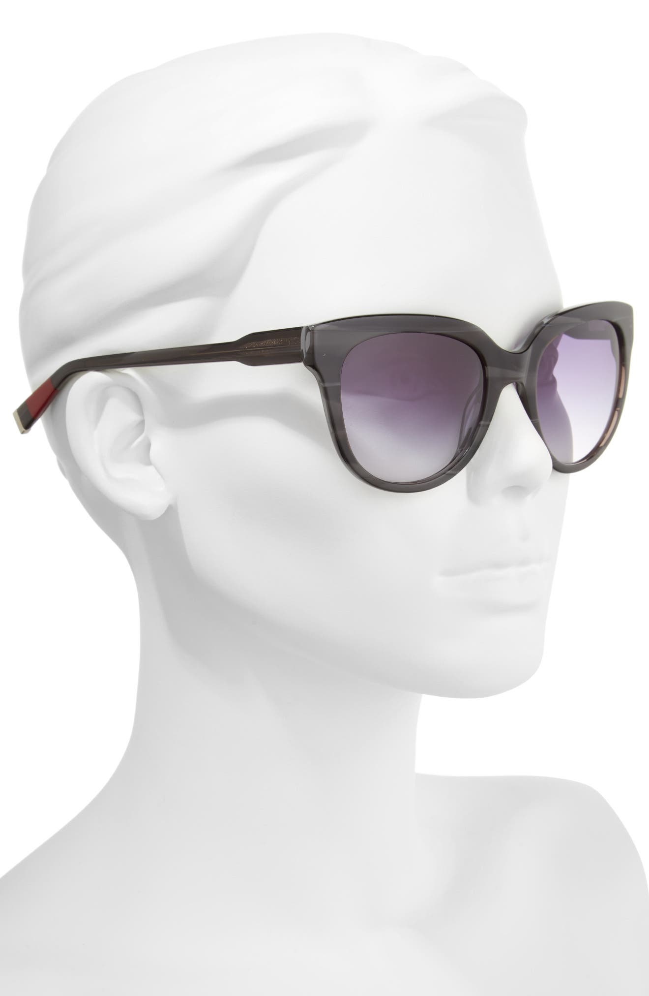 54mm Oval Sunglasses,                             Alternate thumbnail 2, color,                             GREY STRIPE
