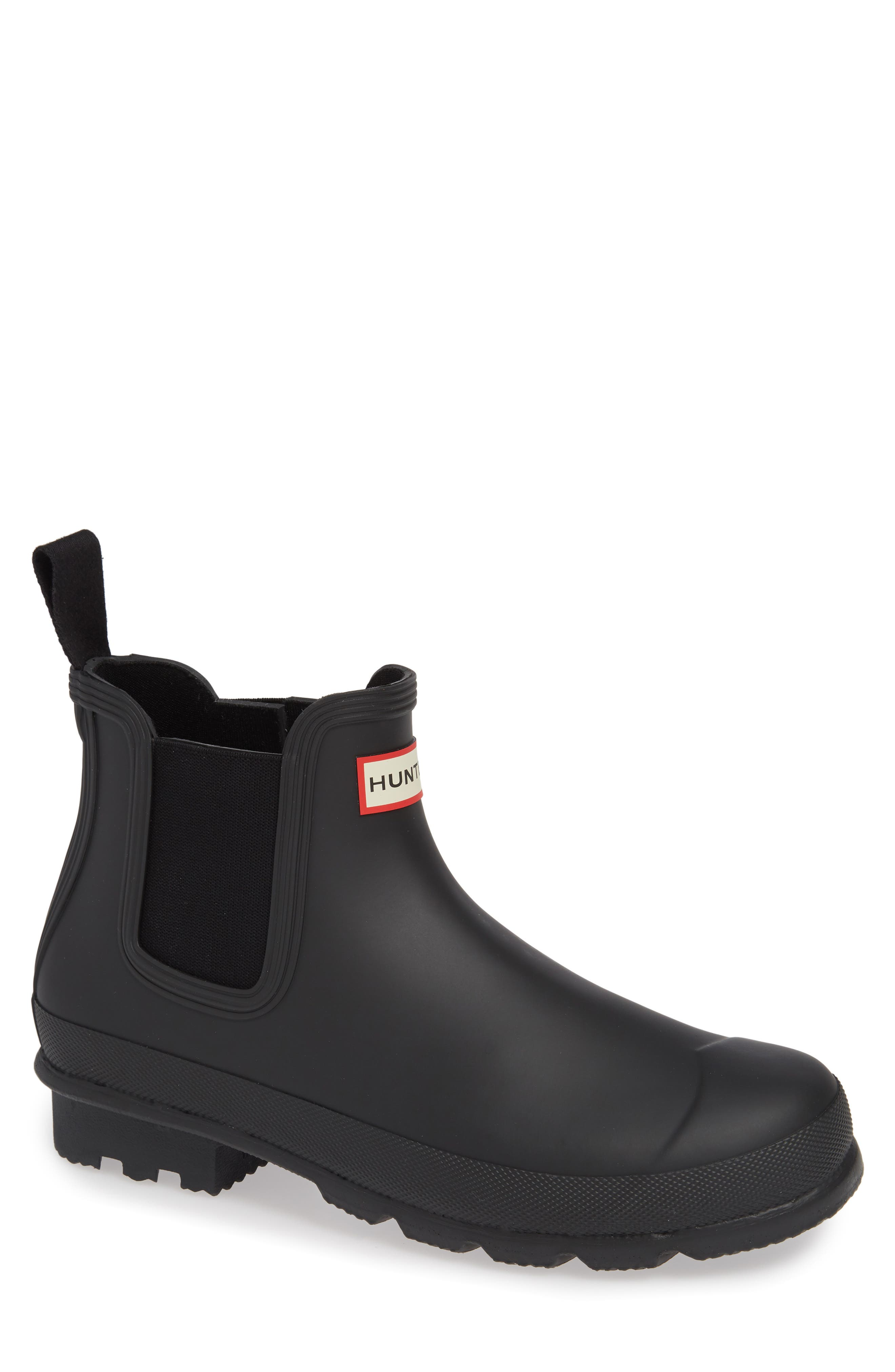 HUNTER,                             'Original' Waterproof Chelsea Rain Boot,                             Main thumbnail 1, color,                             002