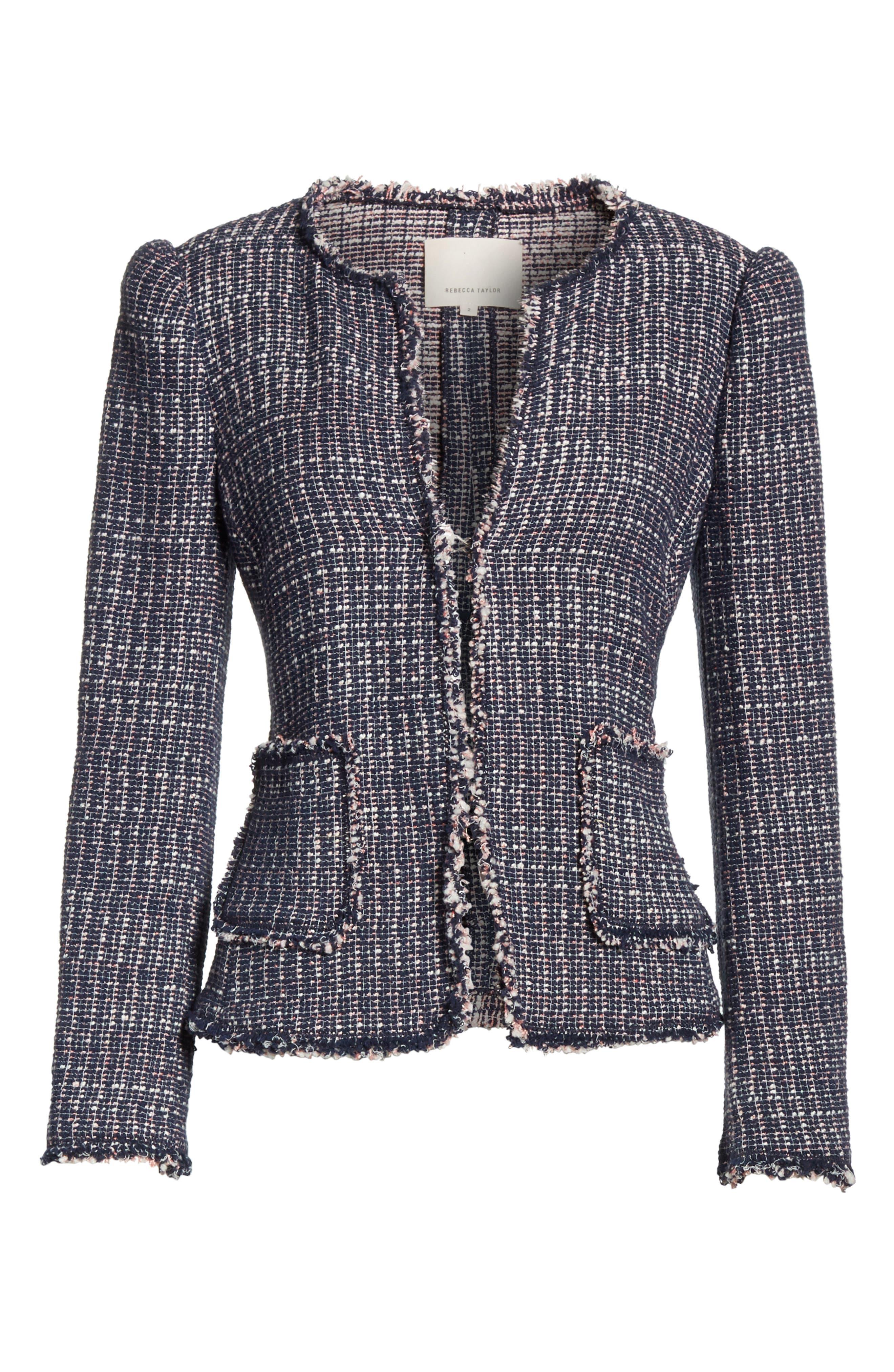 Multi Tweed Jacket,                             Alternate thumbnail 5, color,                             482
