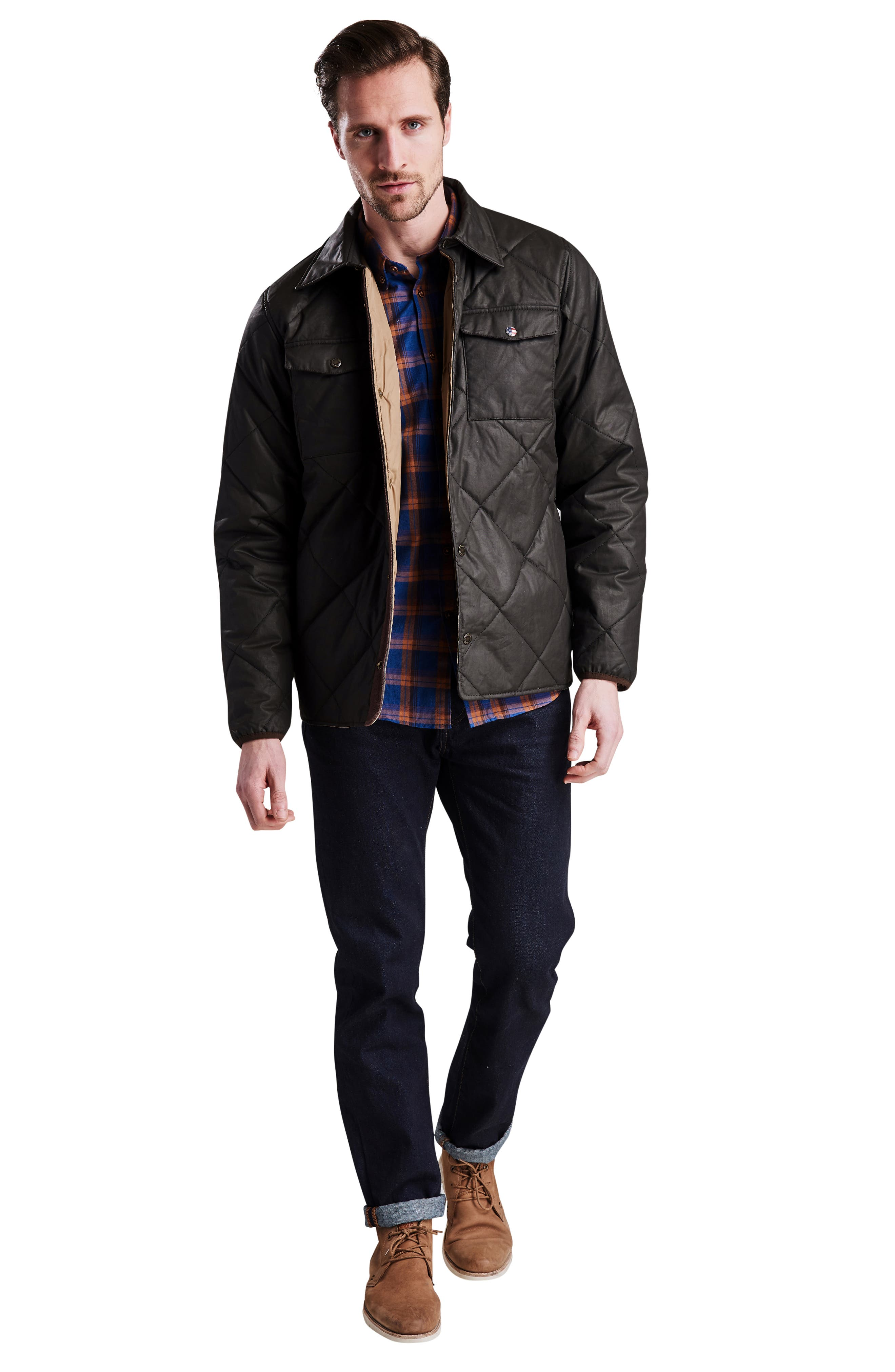 International Sonoran Quilted Shirt Jacket,                             Alternate thumbnail 7, color,                             BROWN