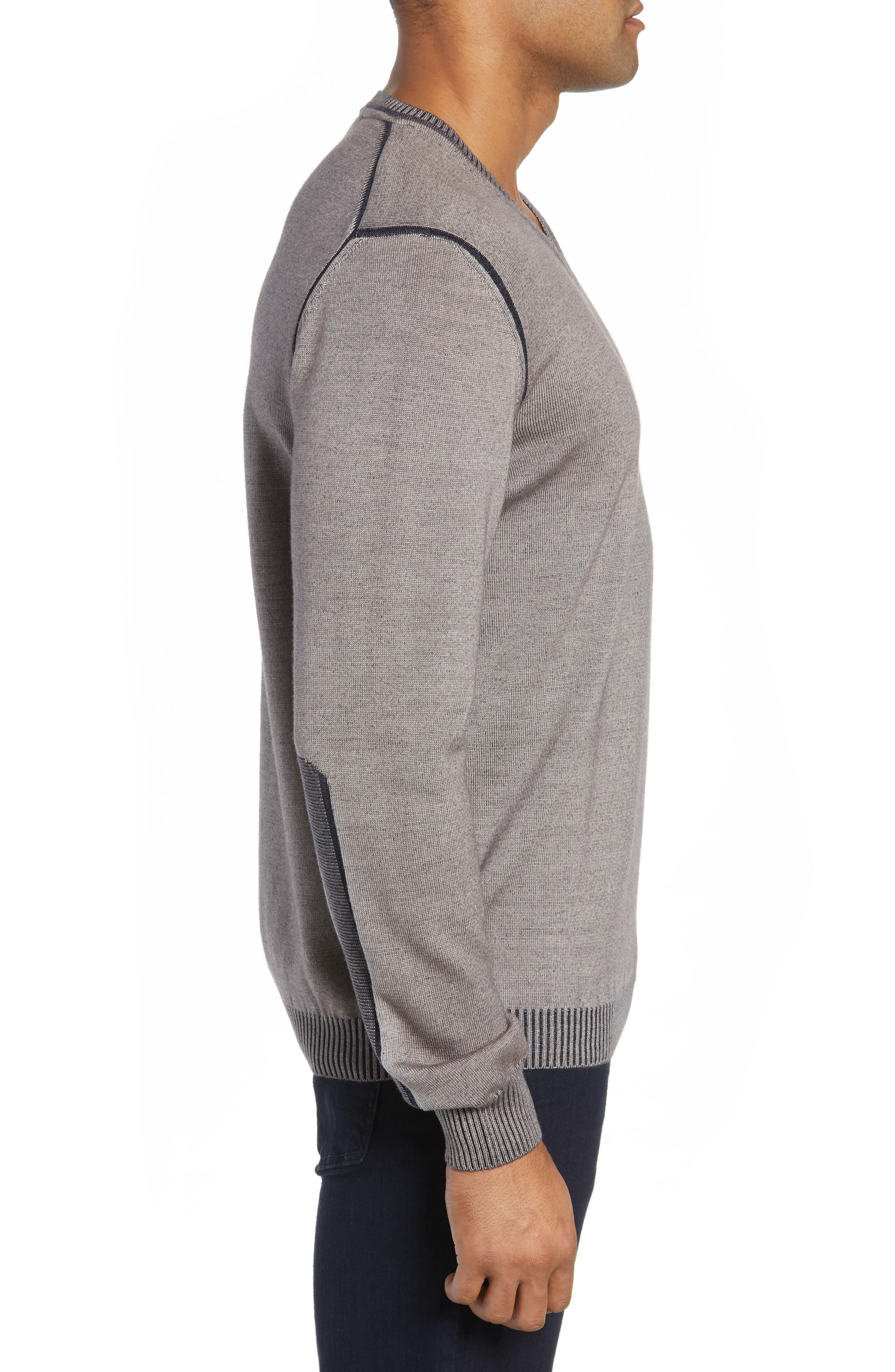 Wool Blend Sweater,                             Alternate thumbnail 3, color,                             TAUPE