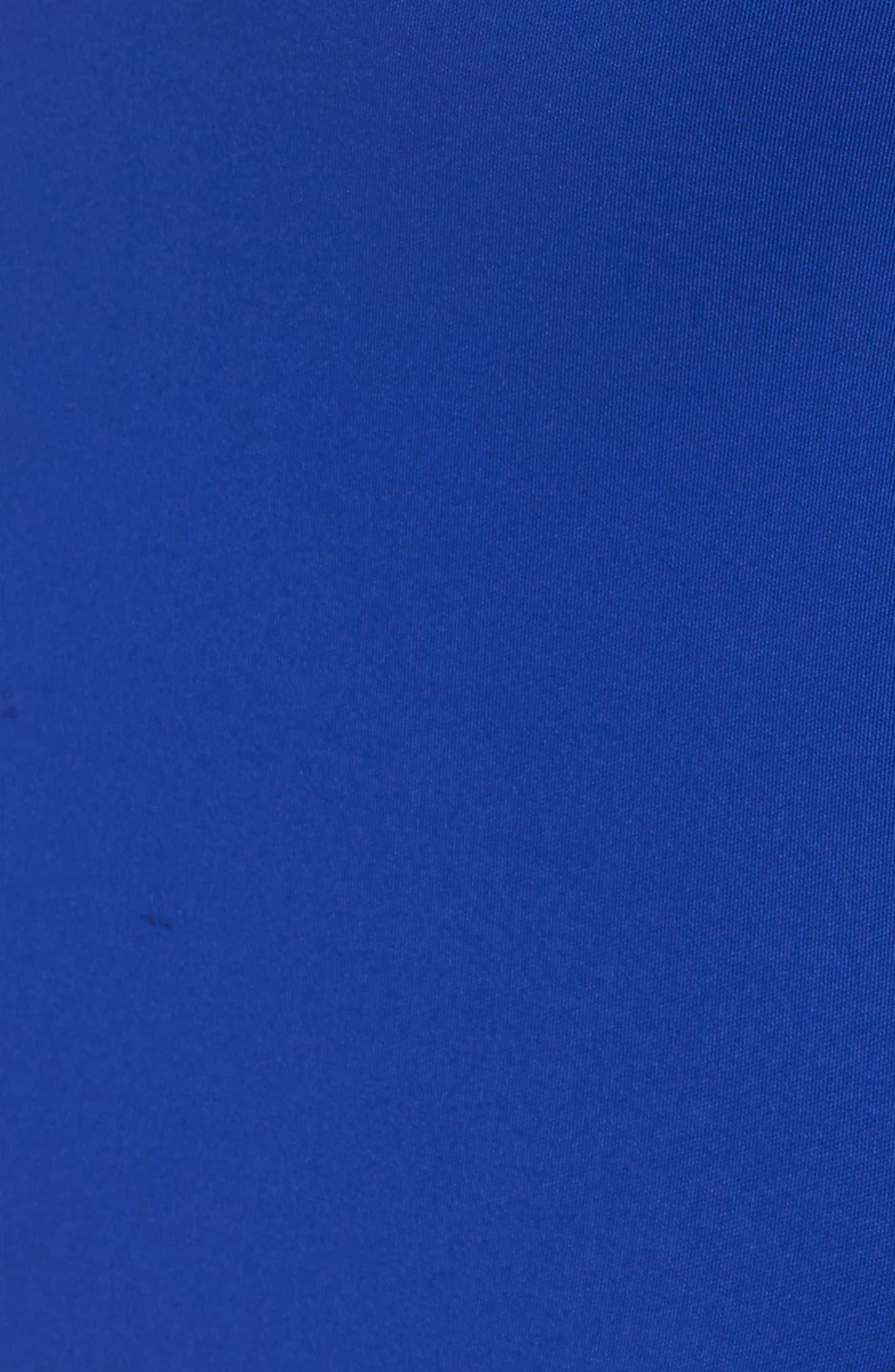 Asymmetric Ruffle Gown,                             Alternate thumbnail 6, color,                             ROYAL