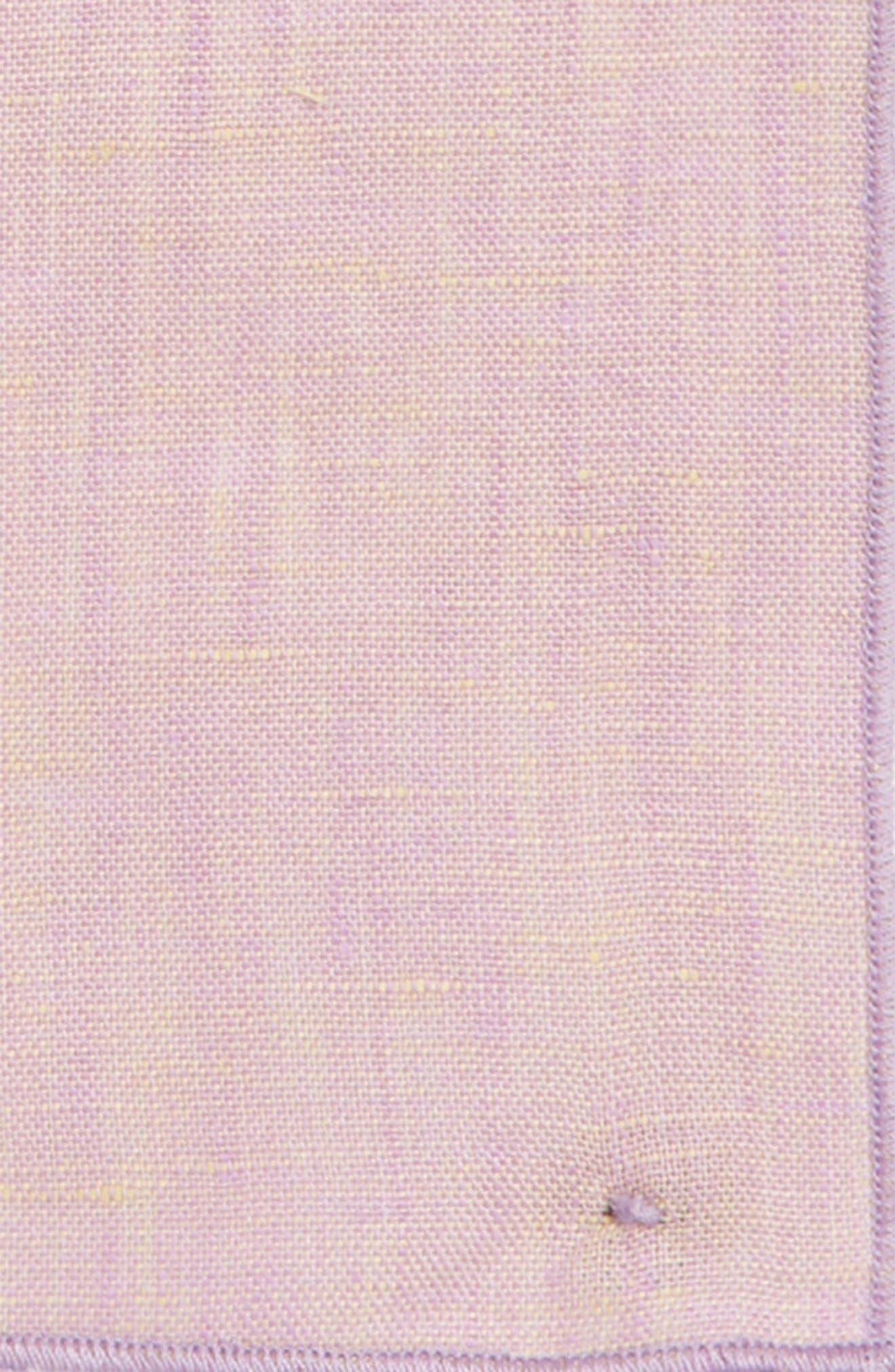Iridescent Glass Linen Pocket Square,                             Alternate thumbnail 6, color,