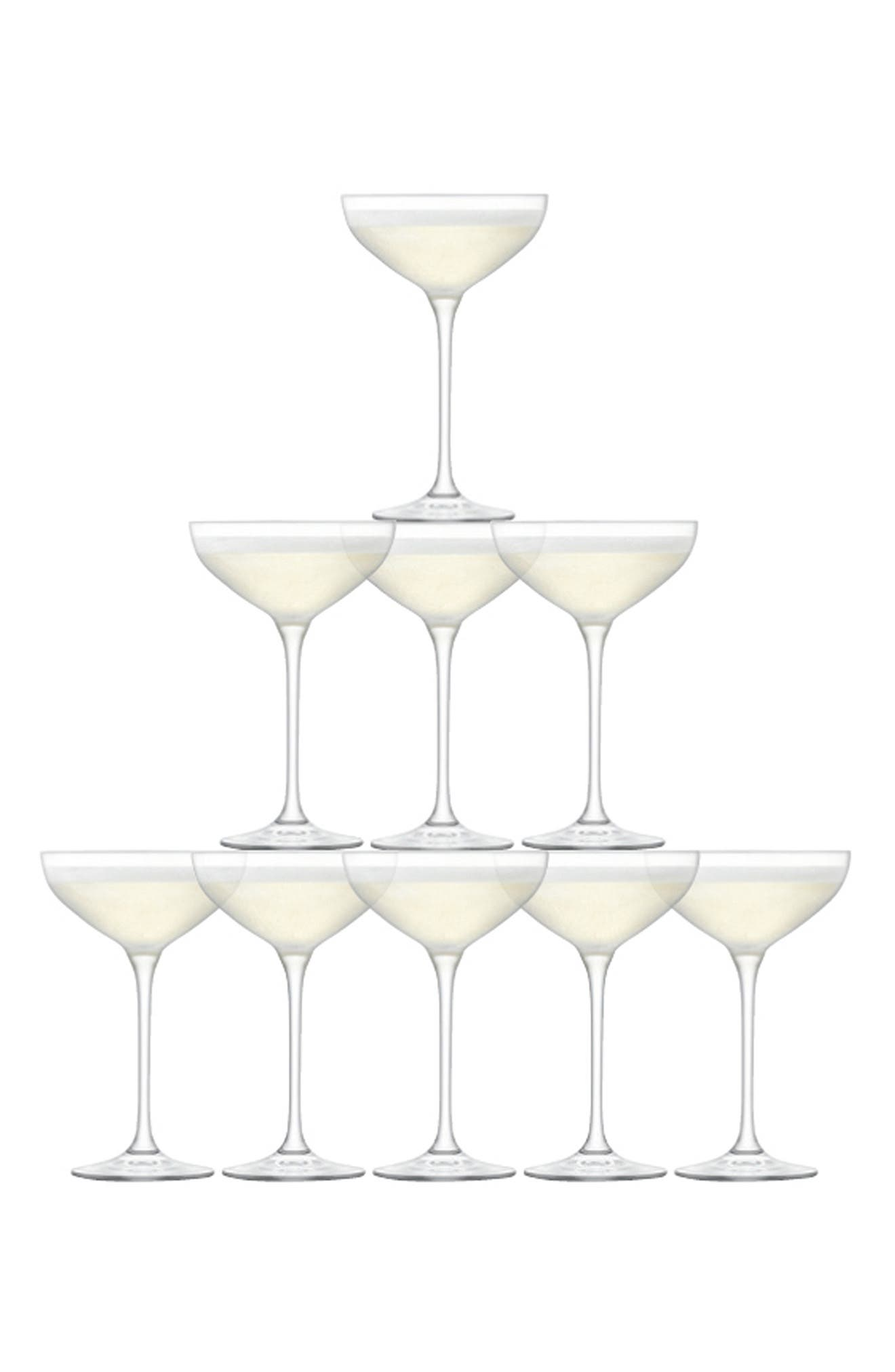 Champagne Tower Set of 10 Glasses,                             Main thumbnail 1, color,                             100