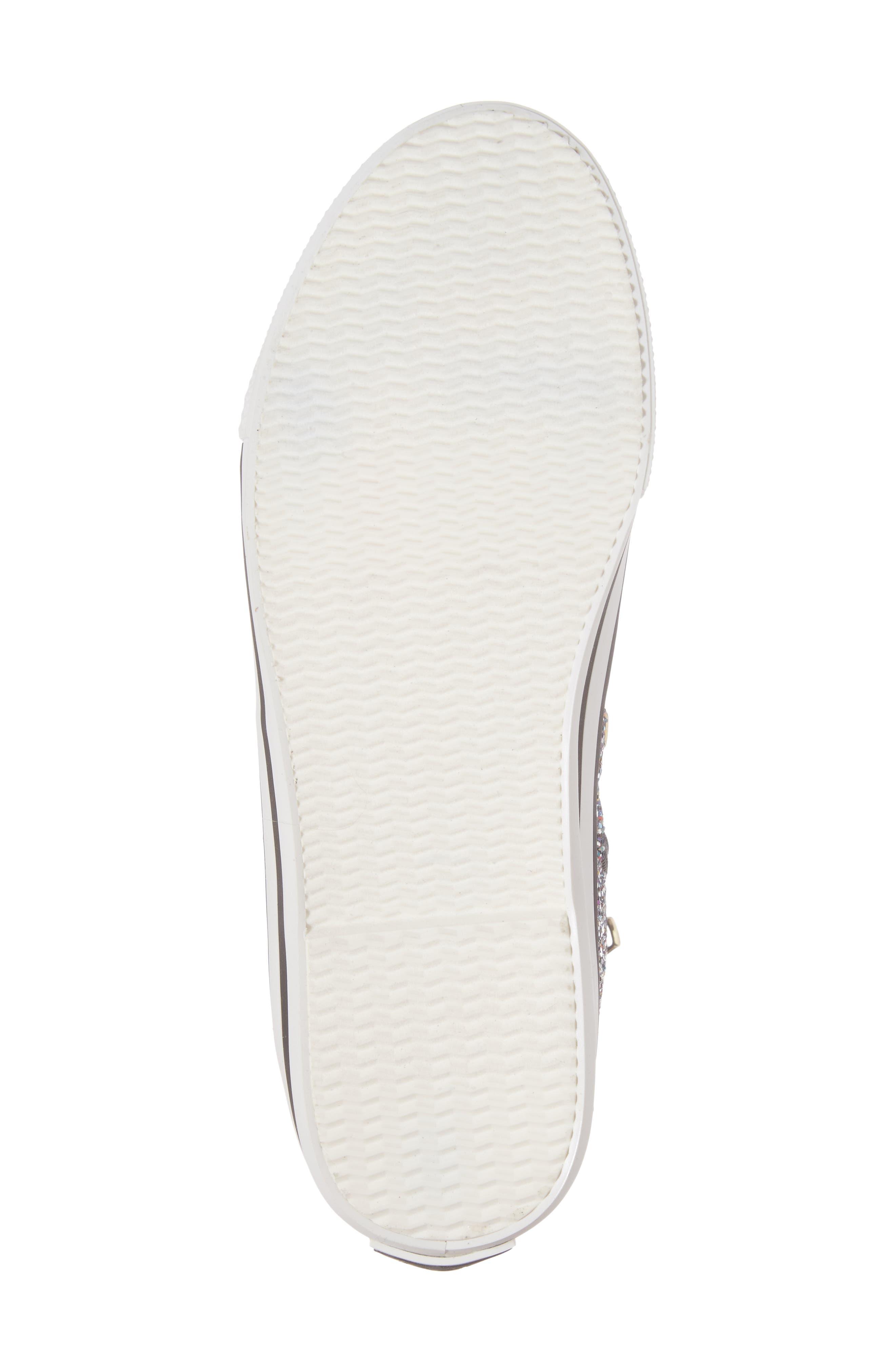 Lita Roe Glittery High Top Sneaker,                             Alternate thumbnail 6, color,                             003