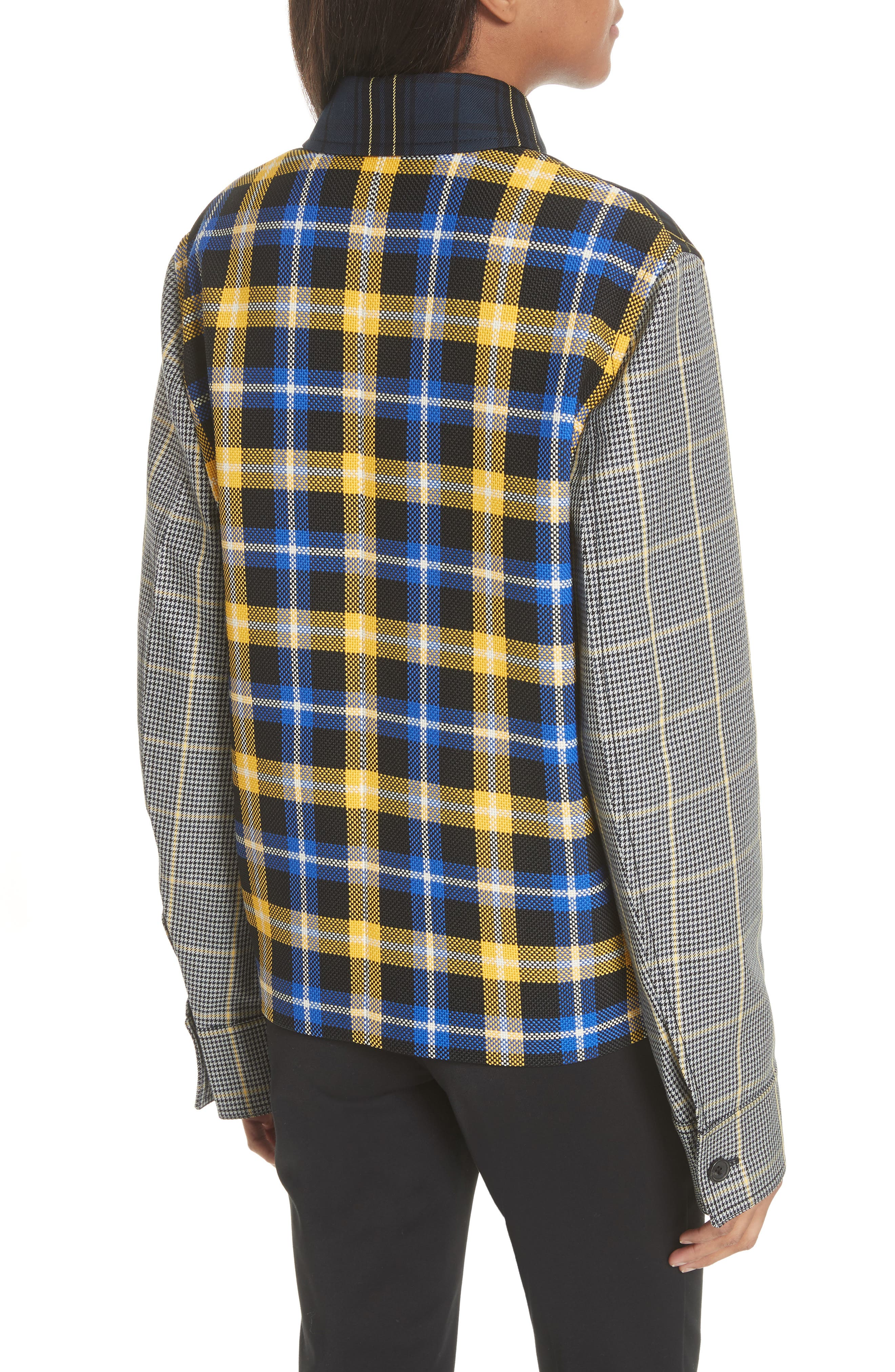 Coen Check Patchwork Jacket,                             Alternate thumbnail 2, color,