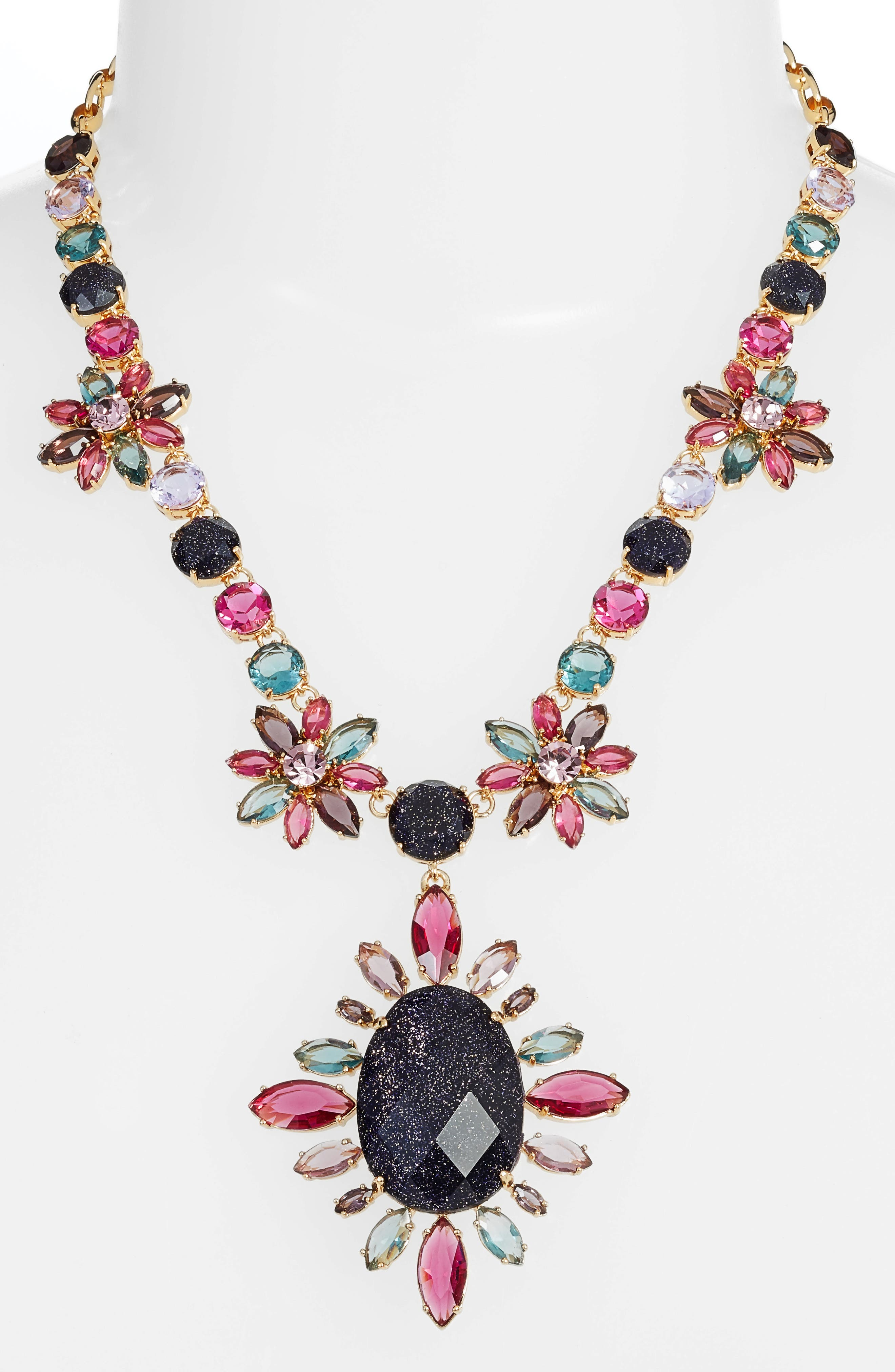 night sky pendant statement necklace,                             Main thumbnail 1, color,