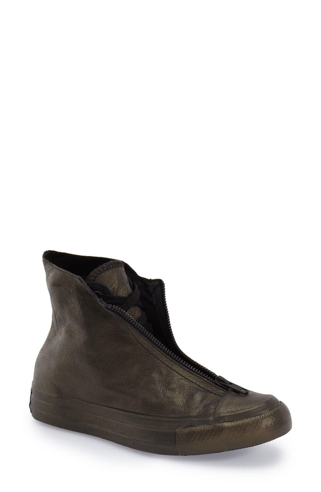 CONVERSE,                             Chuck Taylor<sup>®</sup> All Star<sup>®</sup> 'Shroud' Metallic High Top Sneaker,                             Main thumbnail 1, color,                             017