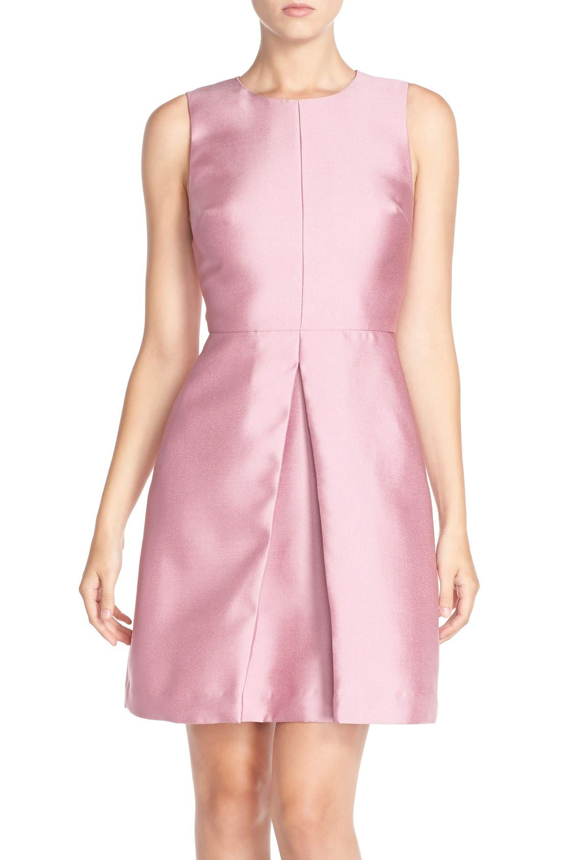 'Sophie' Twill Fit & Flare Dress,                             Main thumbnail 1, color,                             663