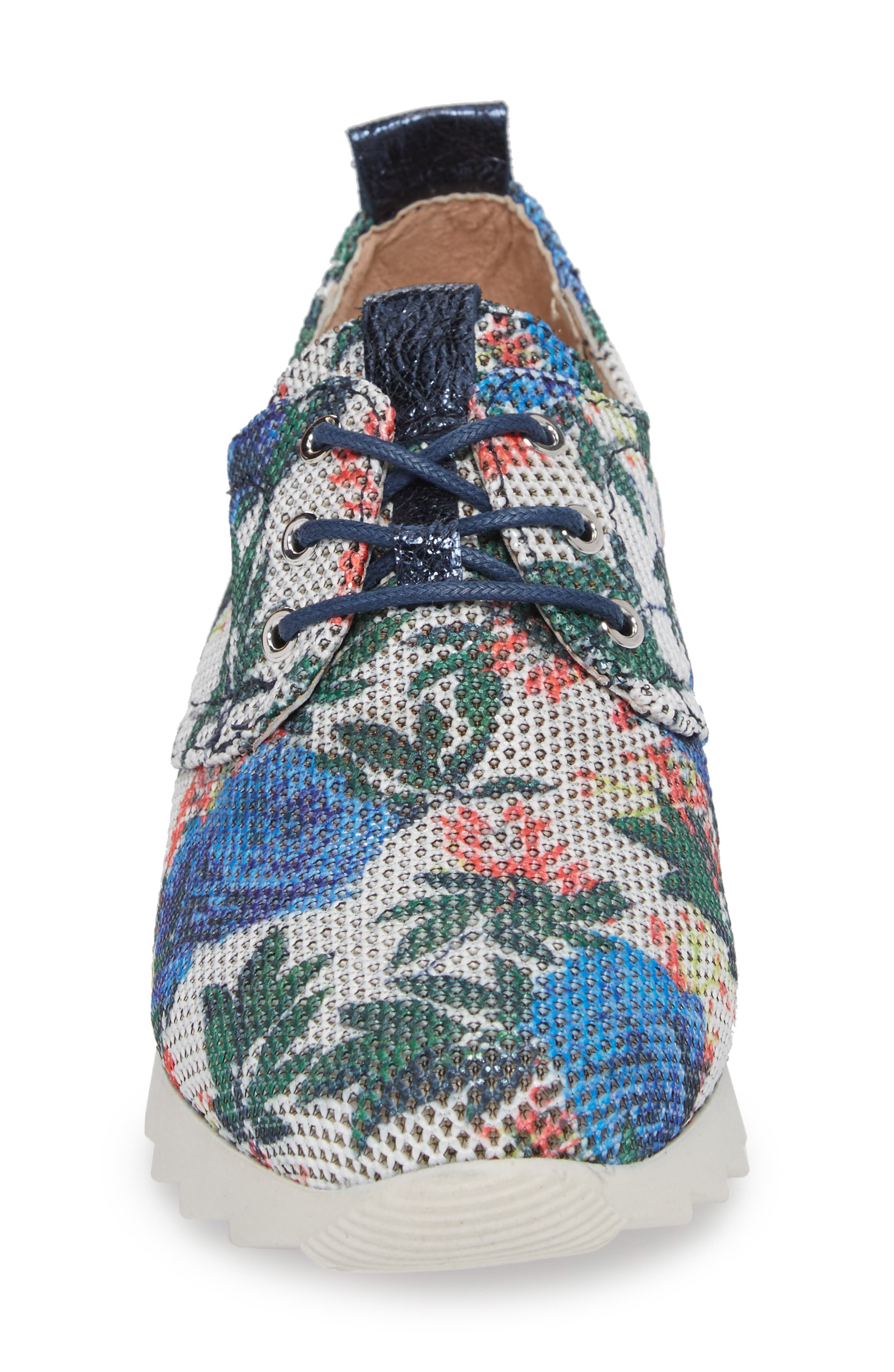 Breezi Perforated Sneaker,                             Alternate thumbnail 4, color,                             GINSEN LEATHER