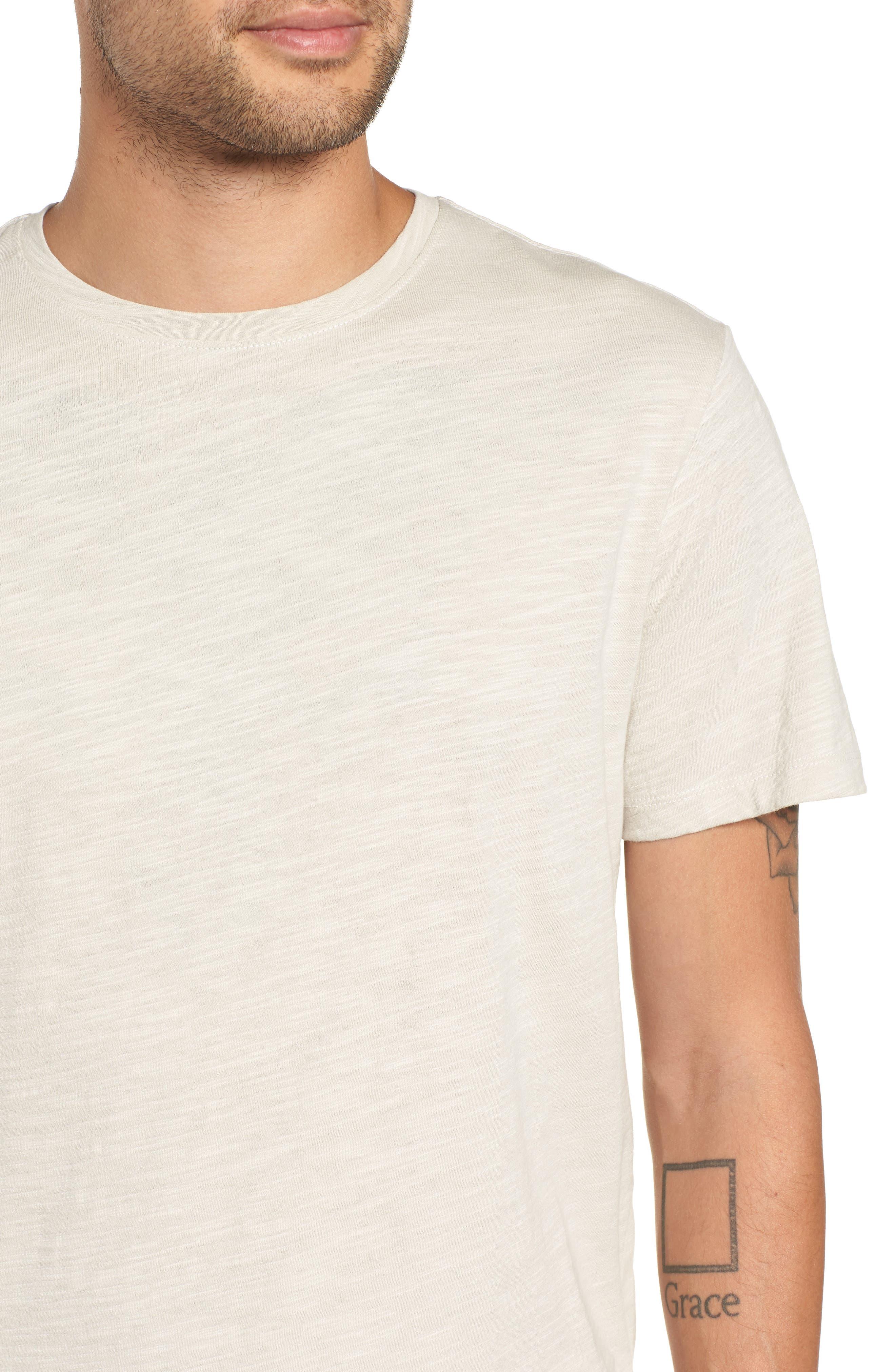 THE RAIL,                             Slub Knit T-Shirt,                             Alternate thumbnail 4, color,                             050