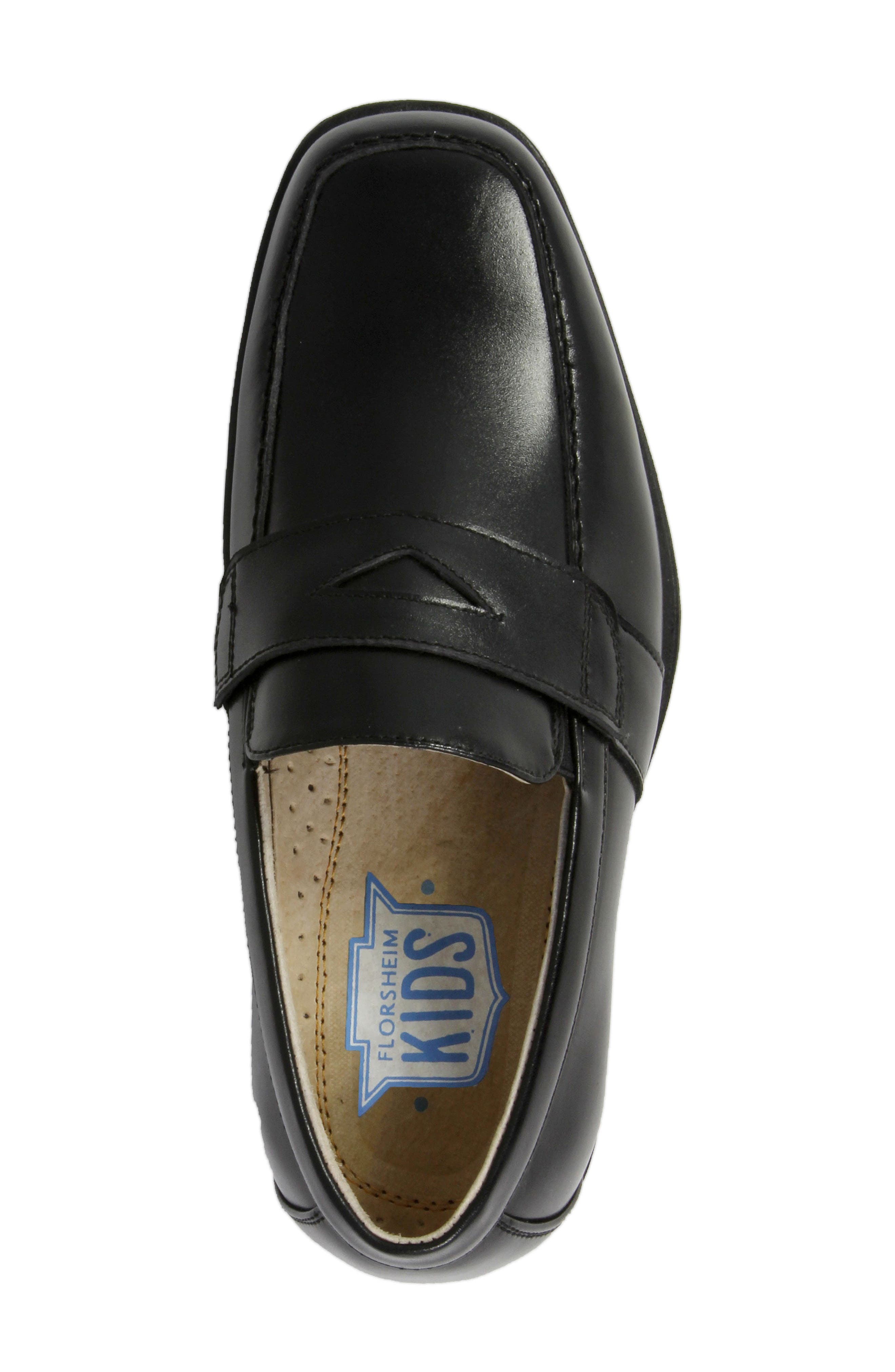 'Reveal' Penny Loafer,                             Alternate thumbnail 5, color,                             BLACK