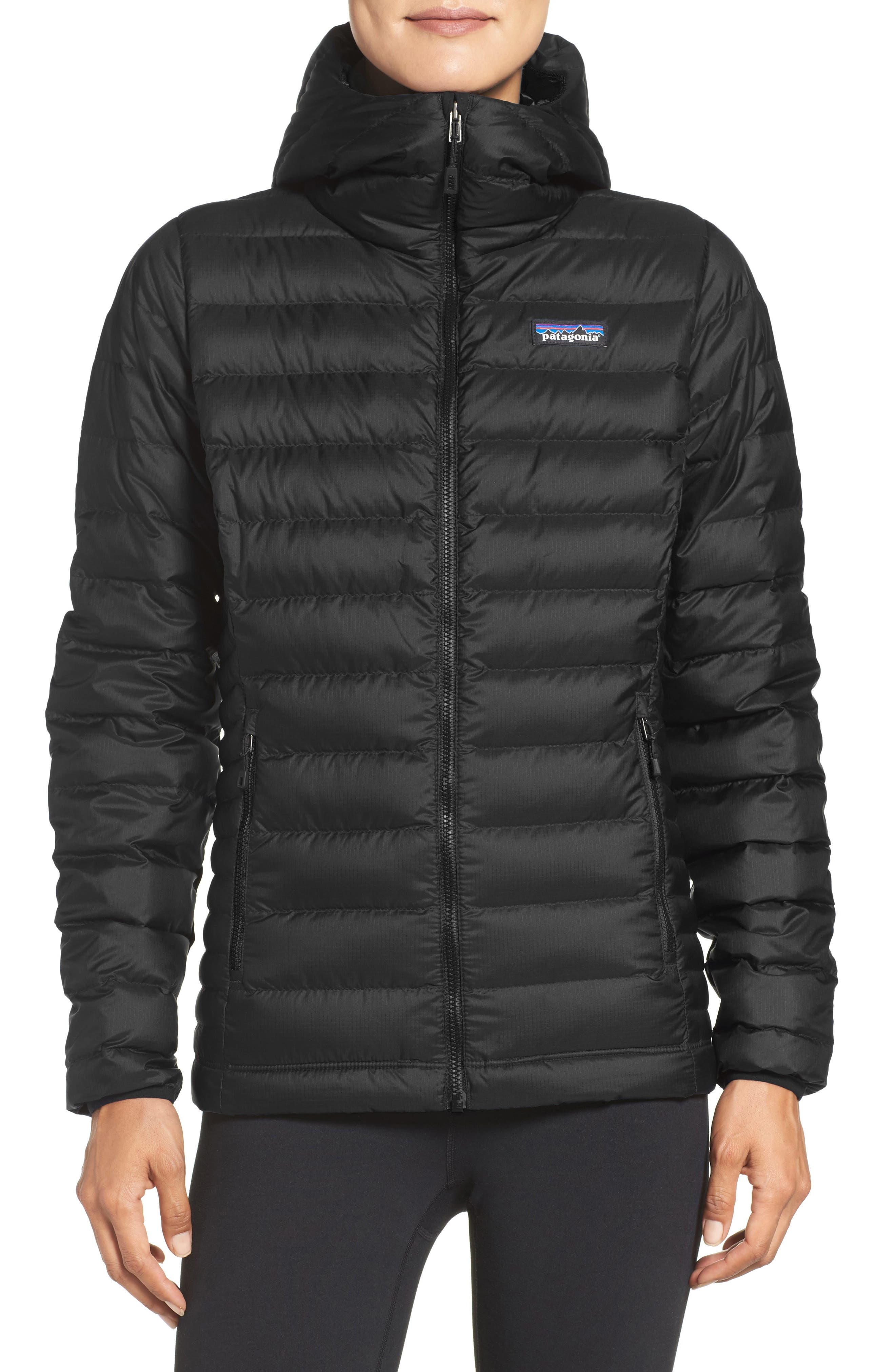 Quilted Water Resistant Down Coat,                             Main thumbnail 1, color,                             001