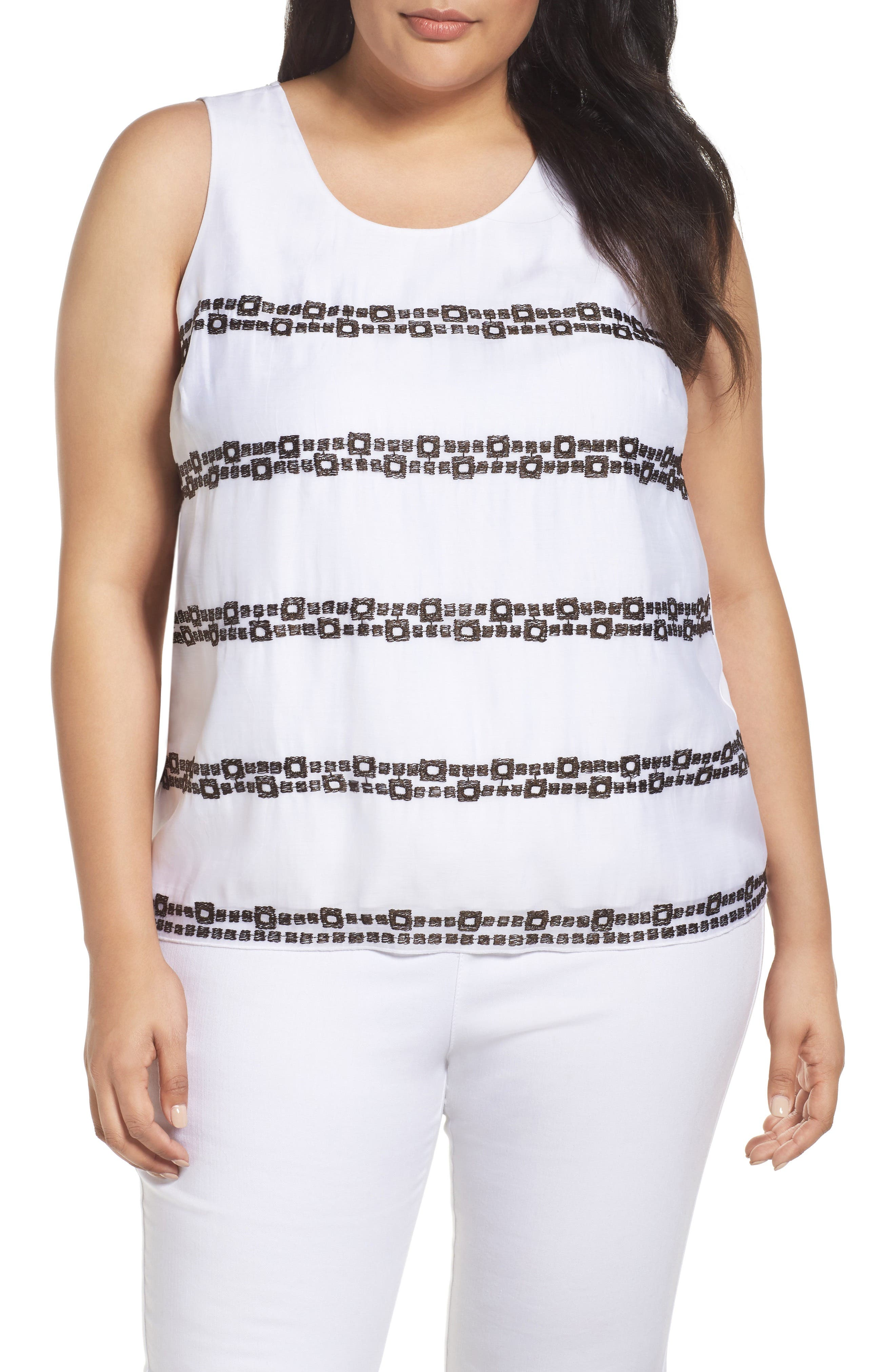 Squared Away Tank,                         Main,                         color, PAPER WHITE