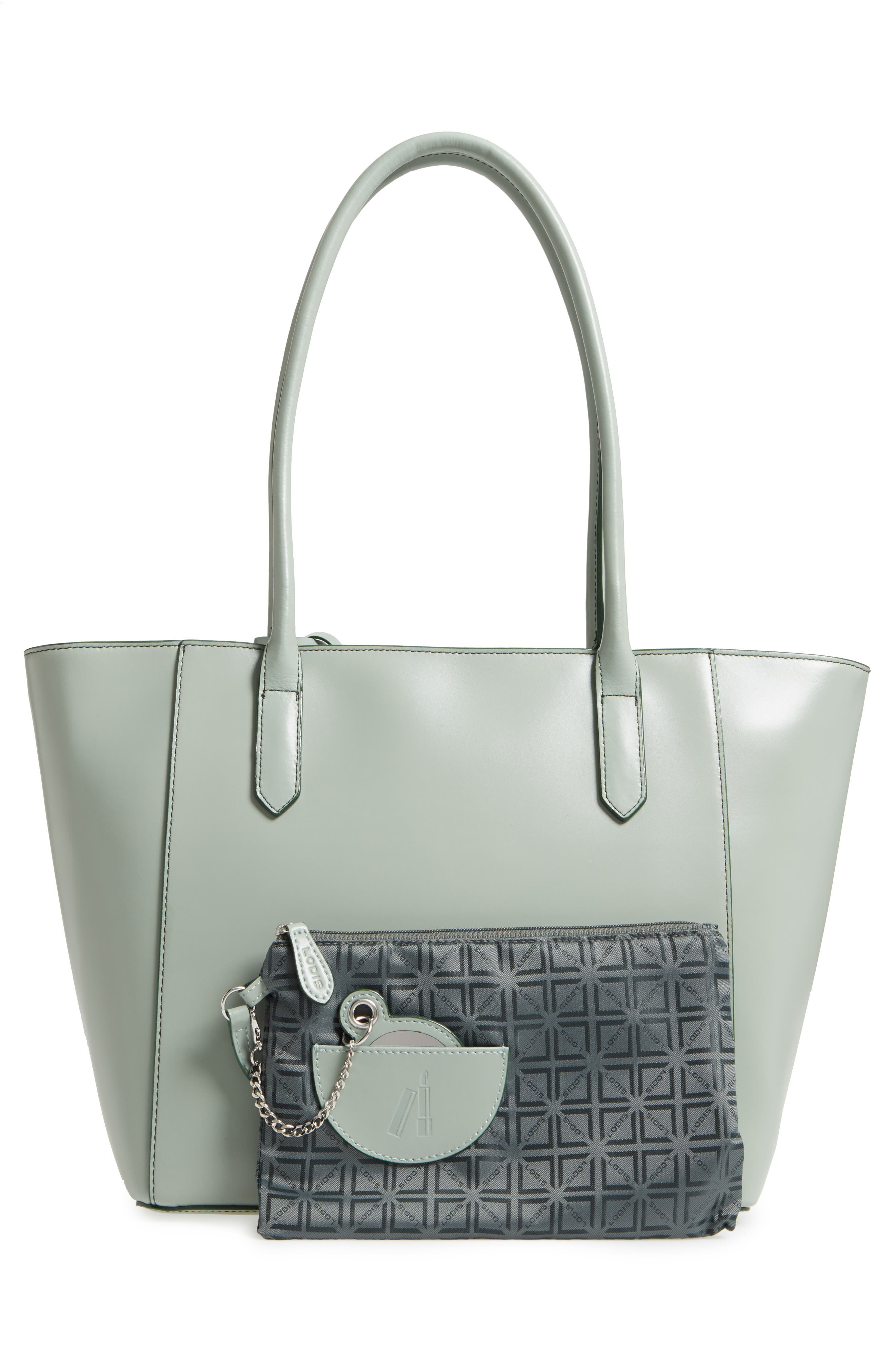 Audrey Under Lock & Key - Medium Margaret RFID Leather Tote with Zip Pouch,                             Alternate thumbnail 11, color,
