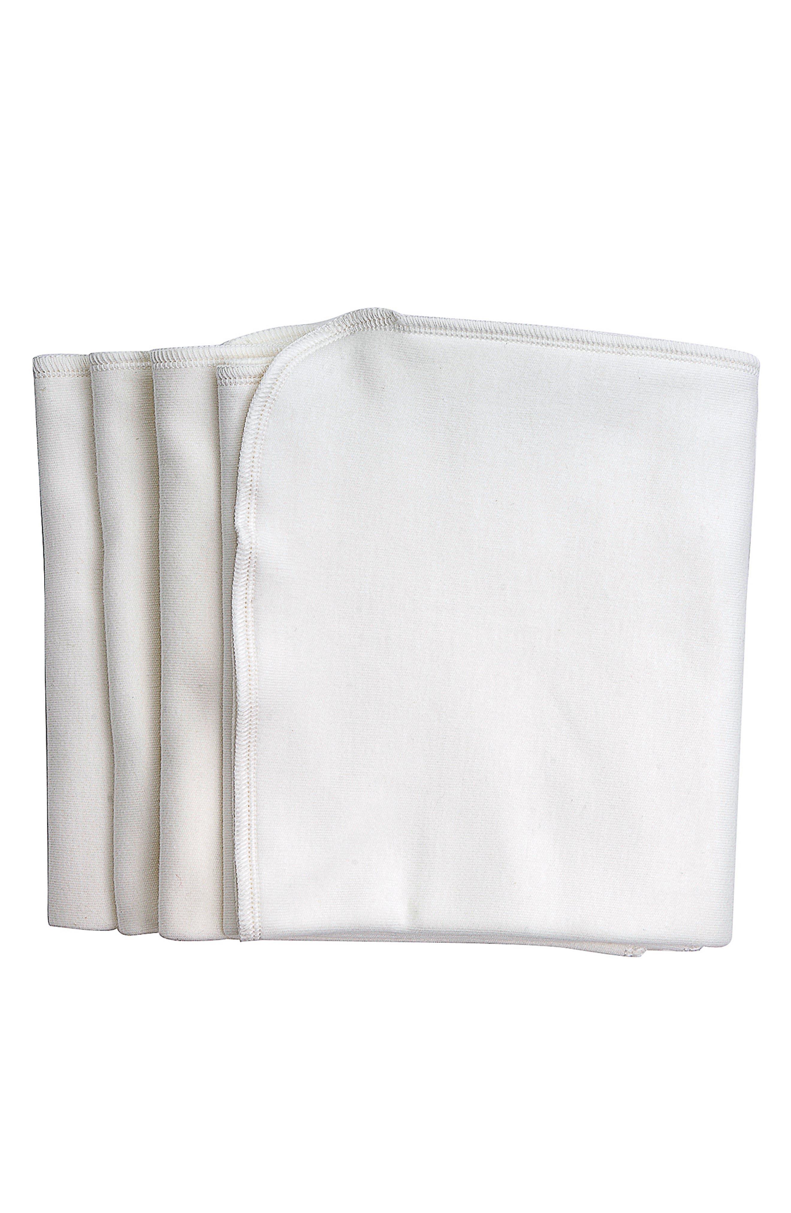 4-Pack Organic Egyptian Cotton Burp Cloths,                             Main thumbnail 1, color,                             900