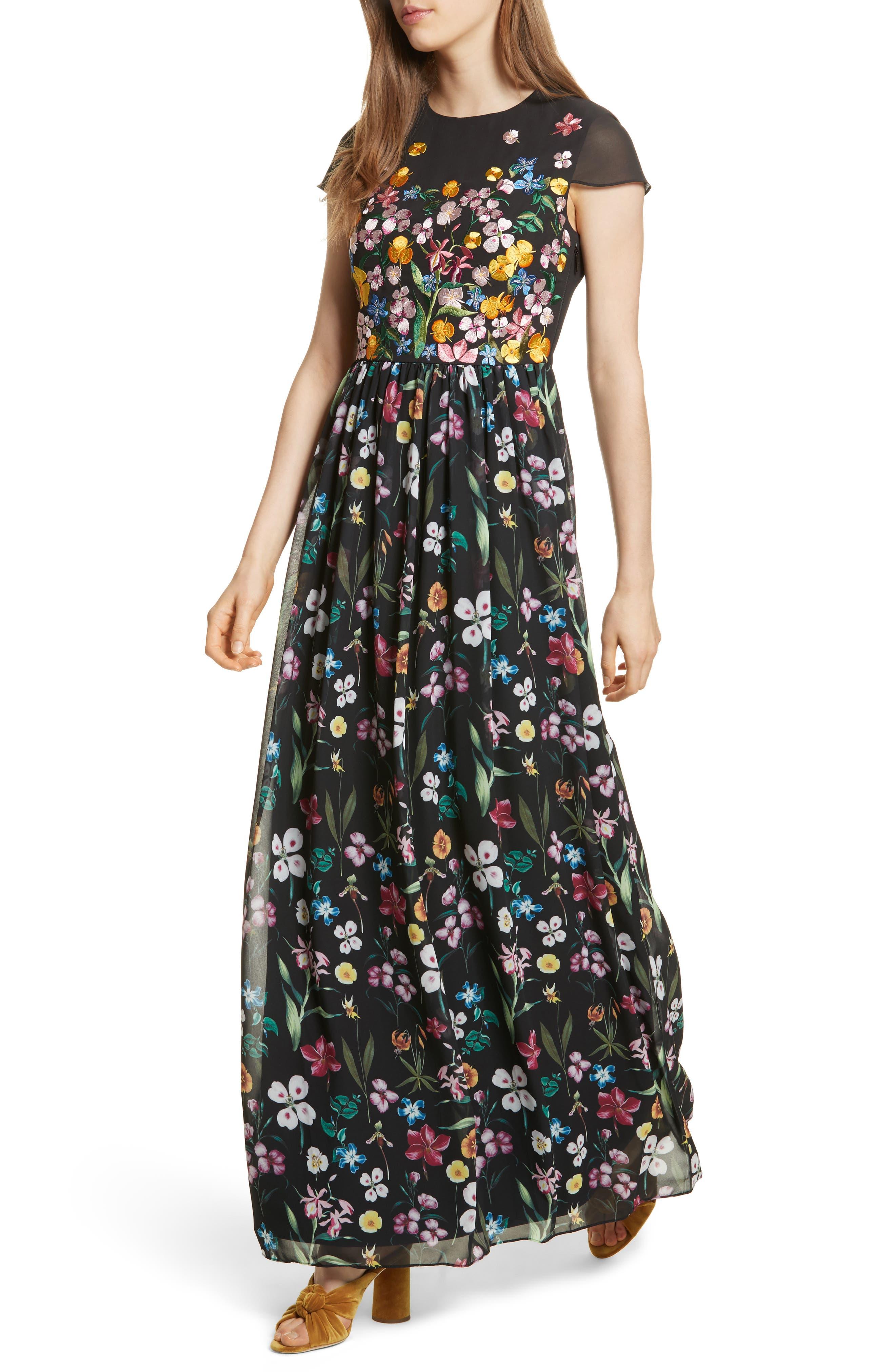Hampton Maxi Dress,                             Alternate thumbnail 4, color,                             001
