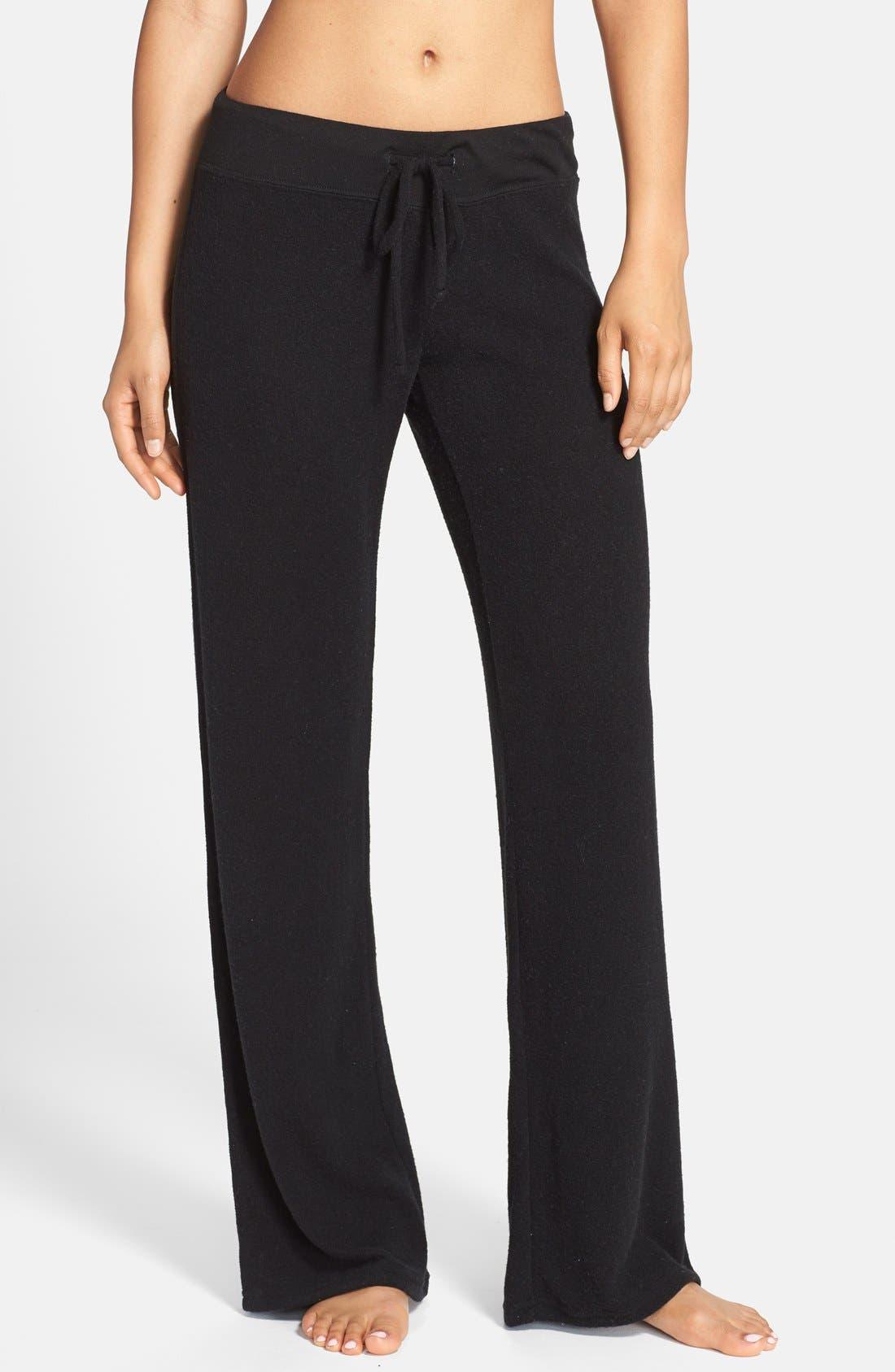 Best Boyfriend Brushed Hacci Lounge Pants,                         Main,                         color, BLACK