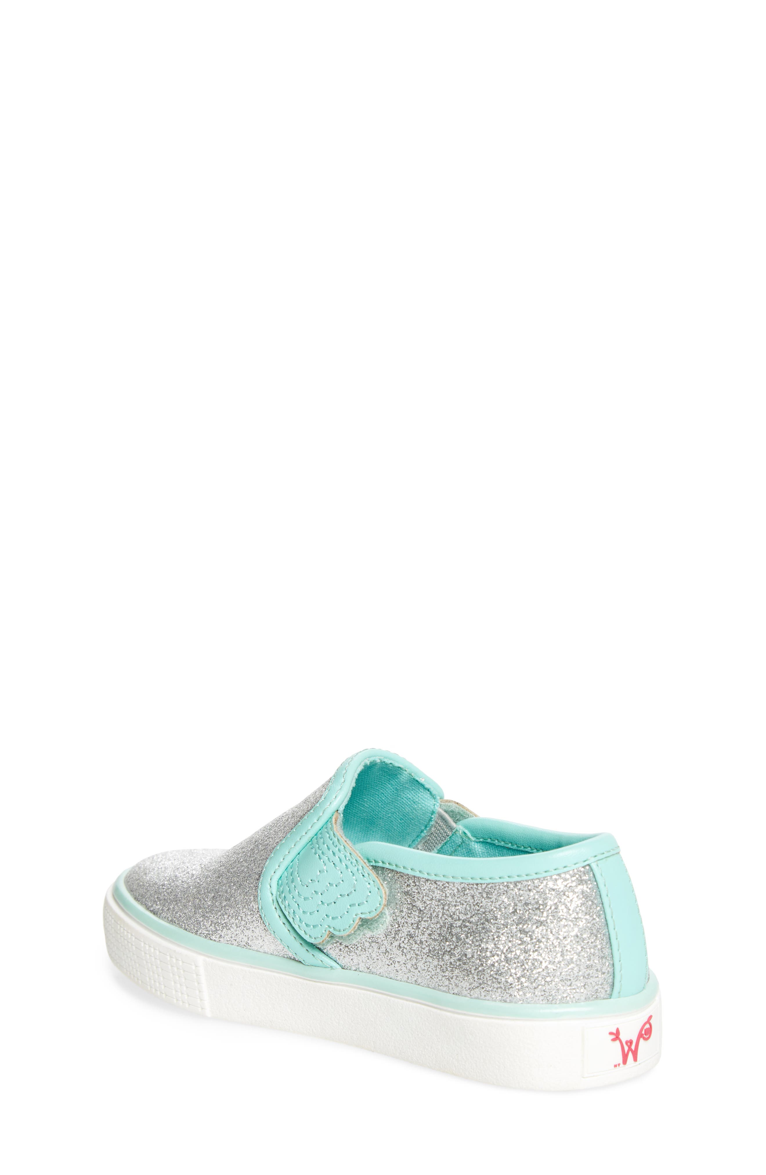 Camille Glitter Slip-On Sneaker,                             Alternate thumbnail 2, color,                             040