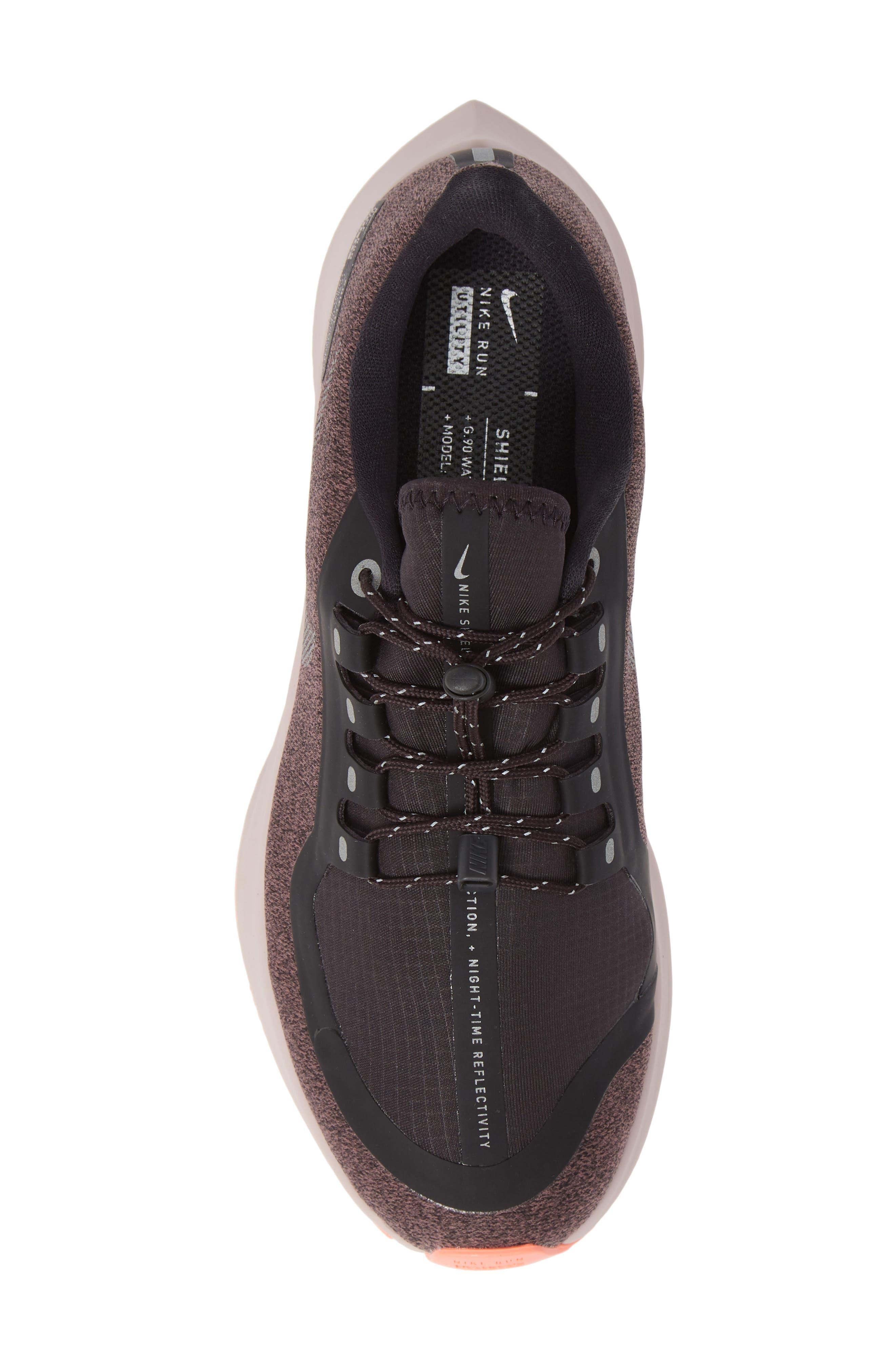 Air Zoom Pegasus 35 Shield GS Water Repellent Running Shoe,                             Alternate thumbnail 5, color,                             GREY/ METALLIC SILVER- MAUVE