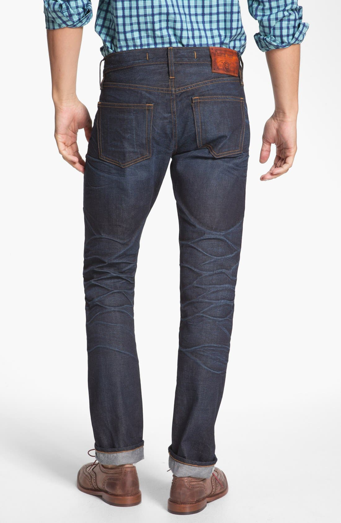 ASBURY PARK,                             '1888 Skinny Fit' Raw Selvedge Jeans,                             Alternate thumbnail 6, color,                             401