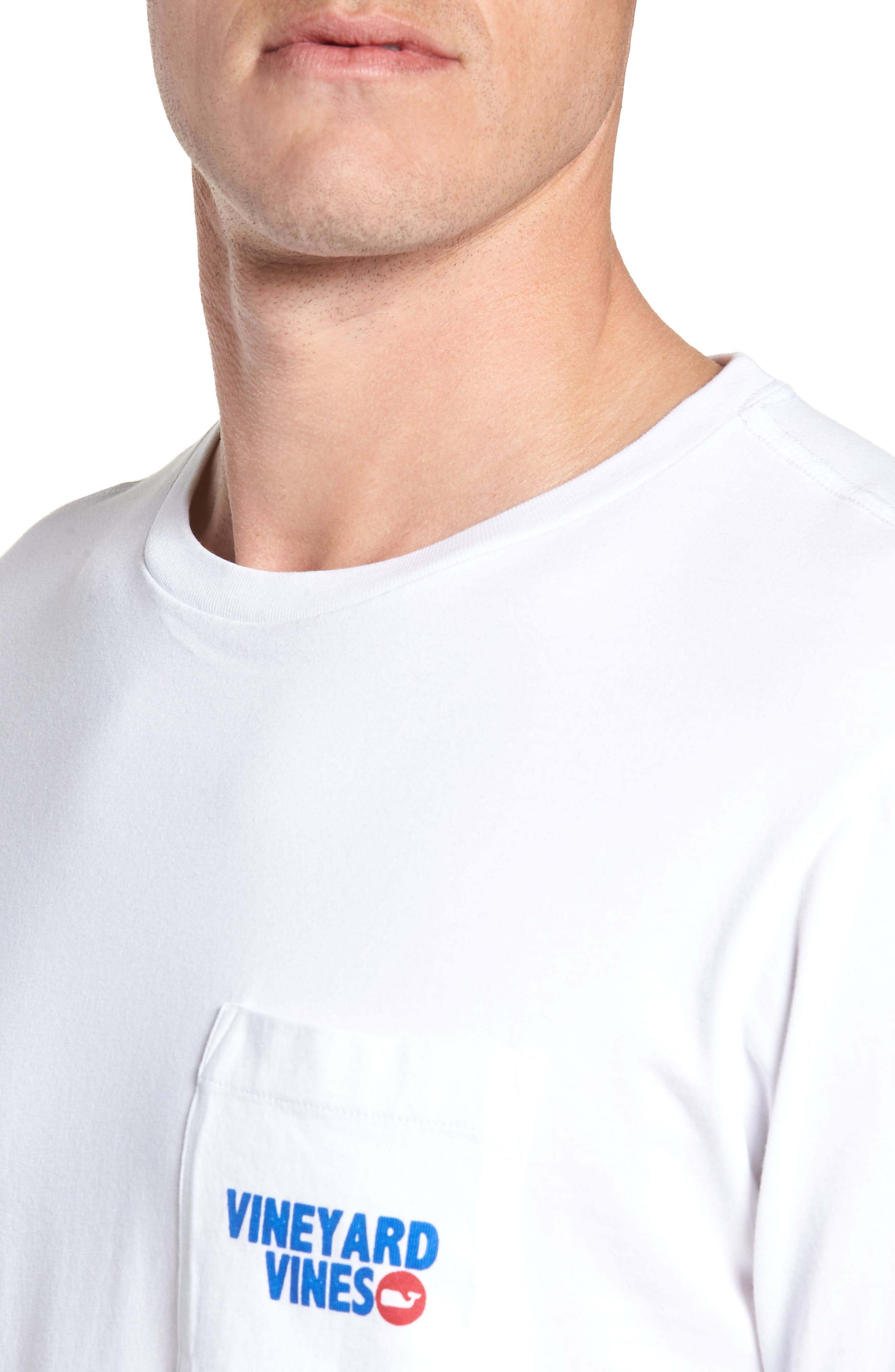 RW&B Story Graphic Long Sleeve Pocket T-Shirt,                             Alternate thumbnail 4, color,                             100