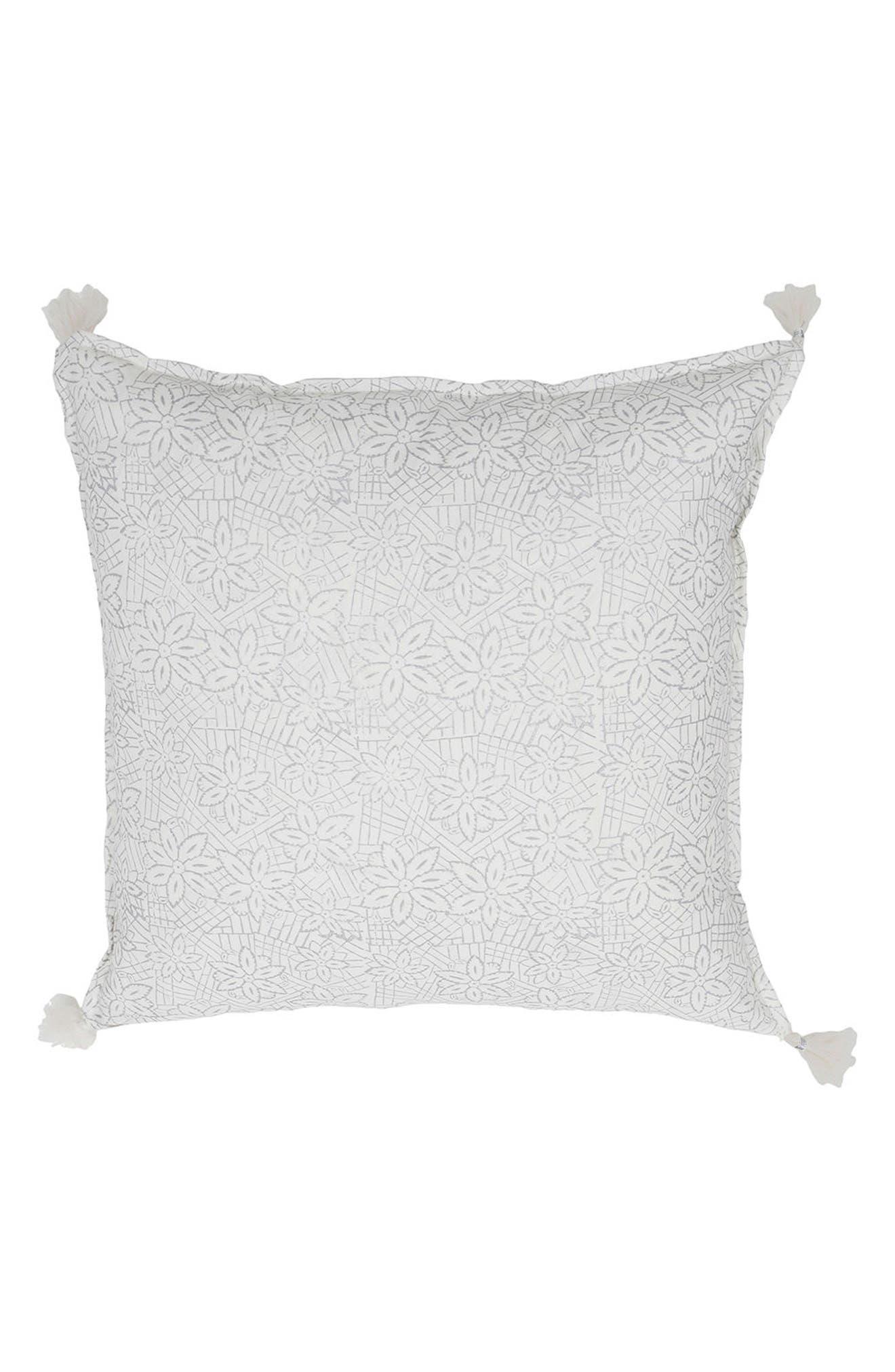 Keya Accent Pillow,                             Main thumbnail 1, color,                             SILVER