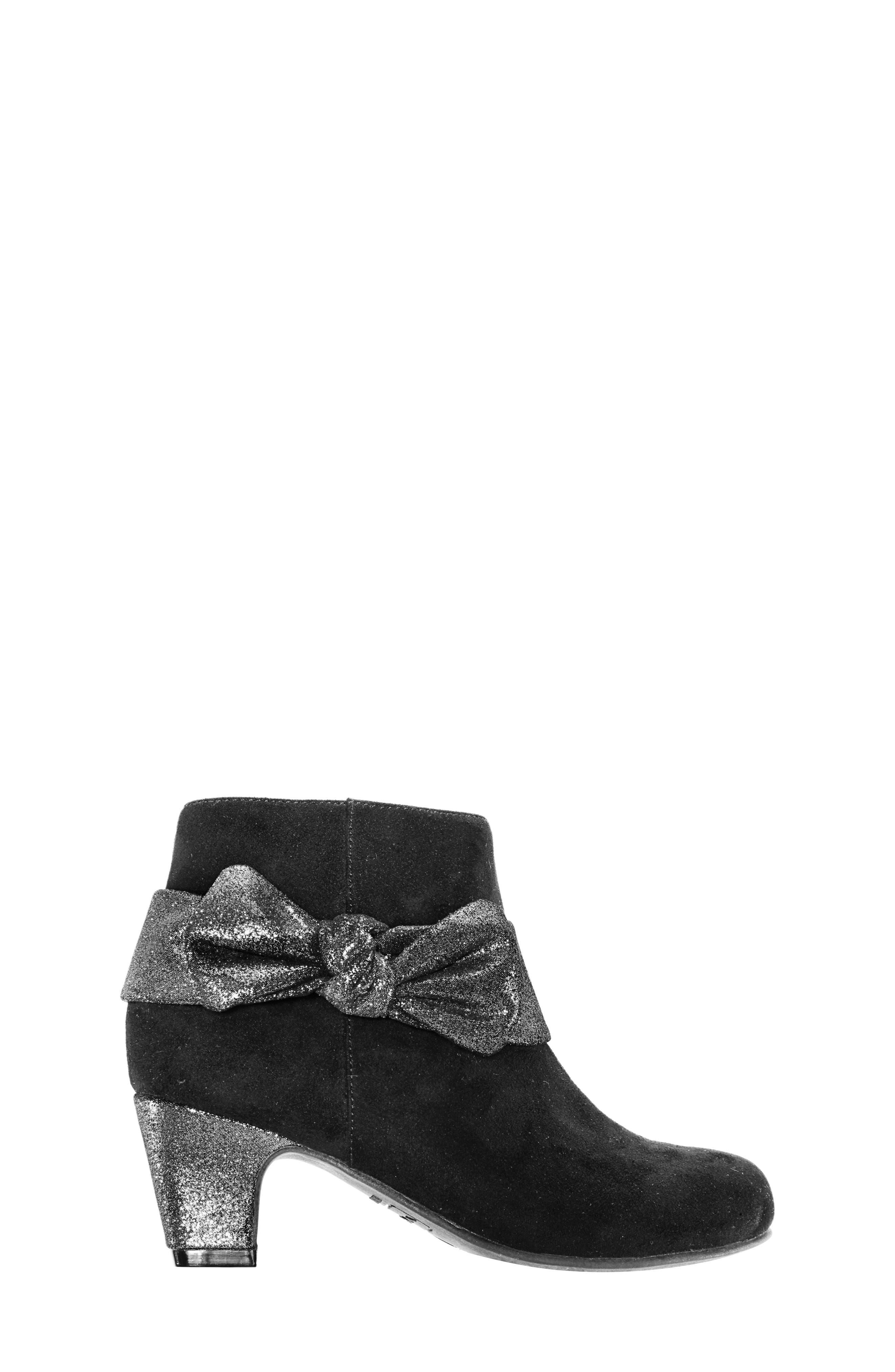 Evelin Block Heel Bootie,                             Alternate thumbnail 8, color,                             BLACK MICRO SUEDE