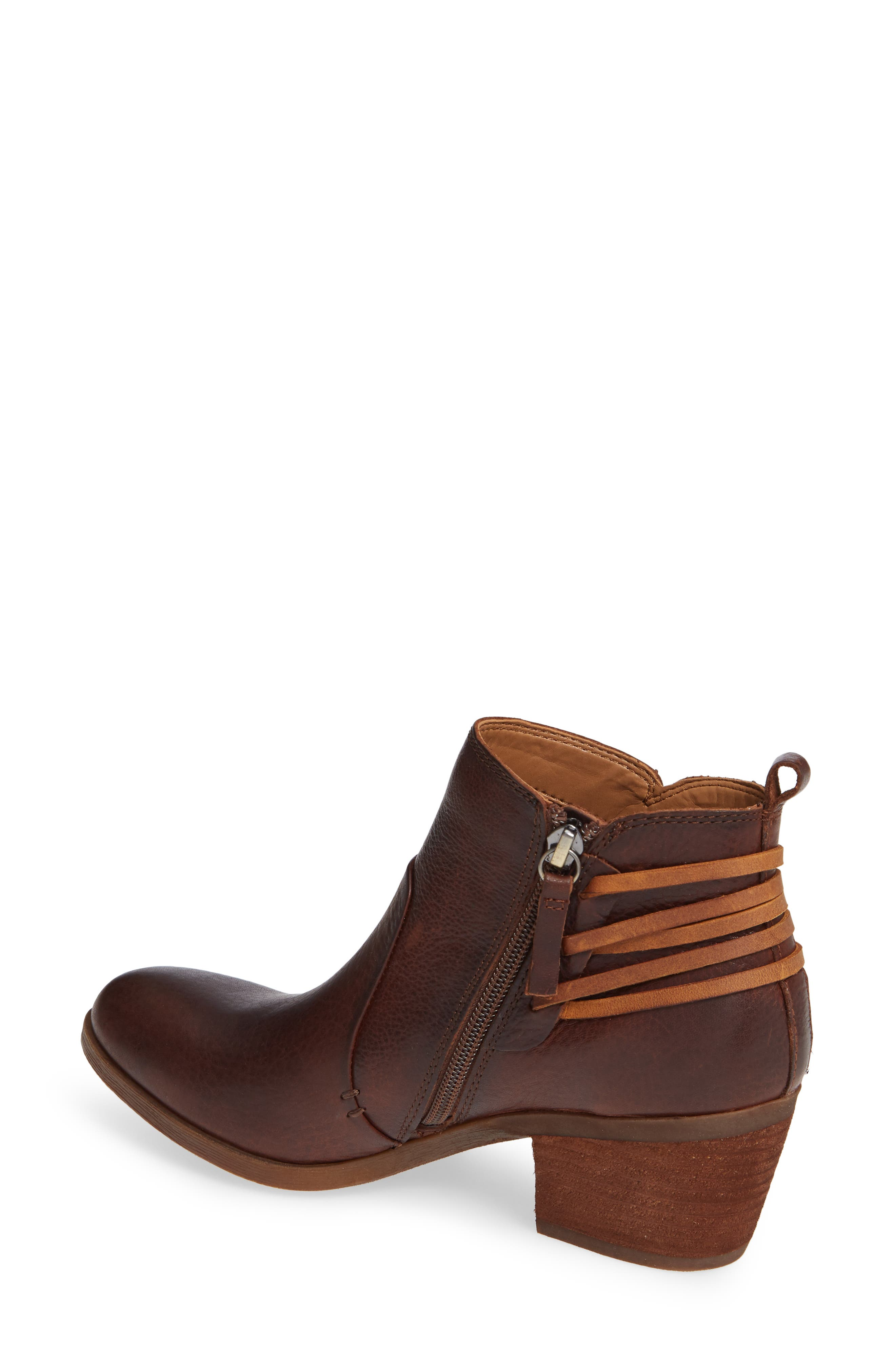 Kinsley Bootie,                             Alternate thumbnail 2, color,                             WHISKEY/ ALMOND