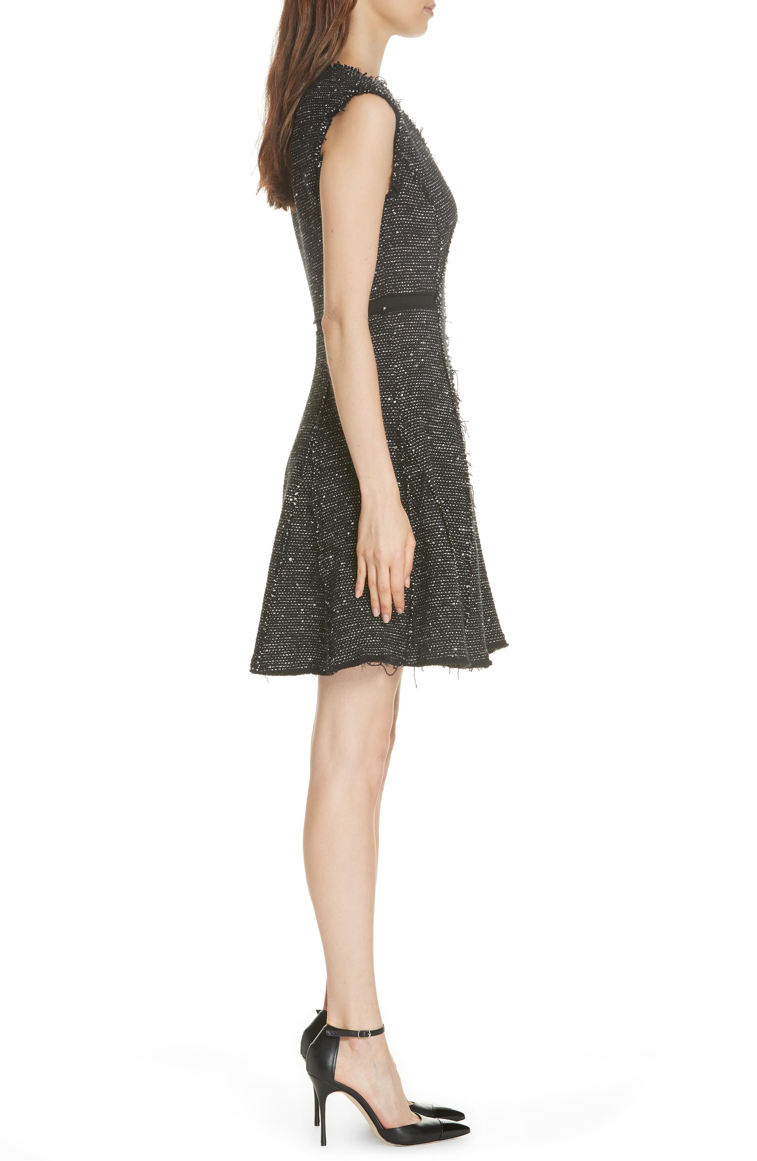 Sparkle Stretch Dress,                             Alternate thumbnail 3, color,                             BLACK