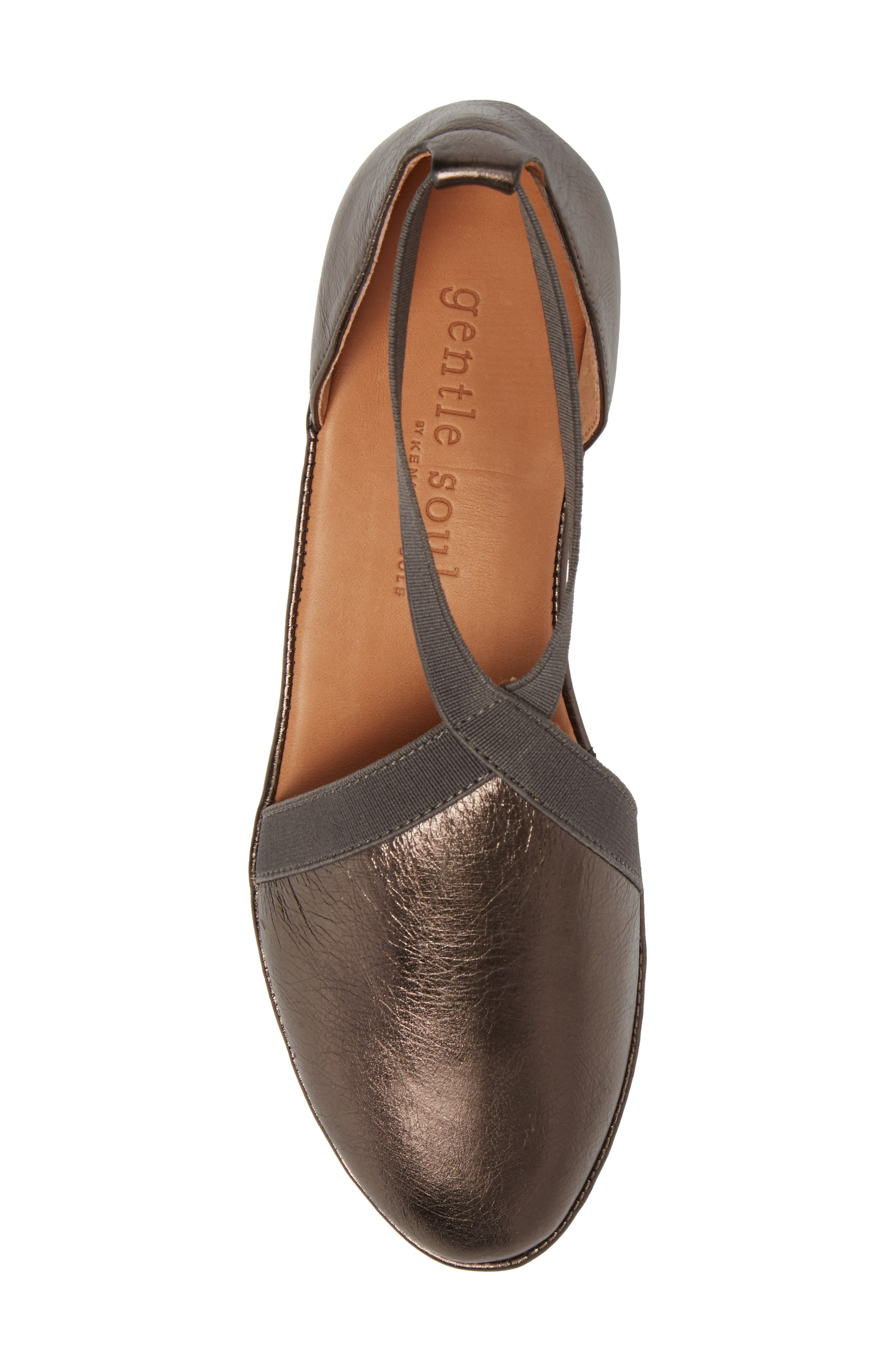 by Kenneth Cole Natalia Wedge,                             Alternate thumbnail 5, color,                             PEWTER LEATHER