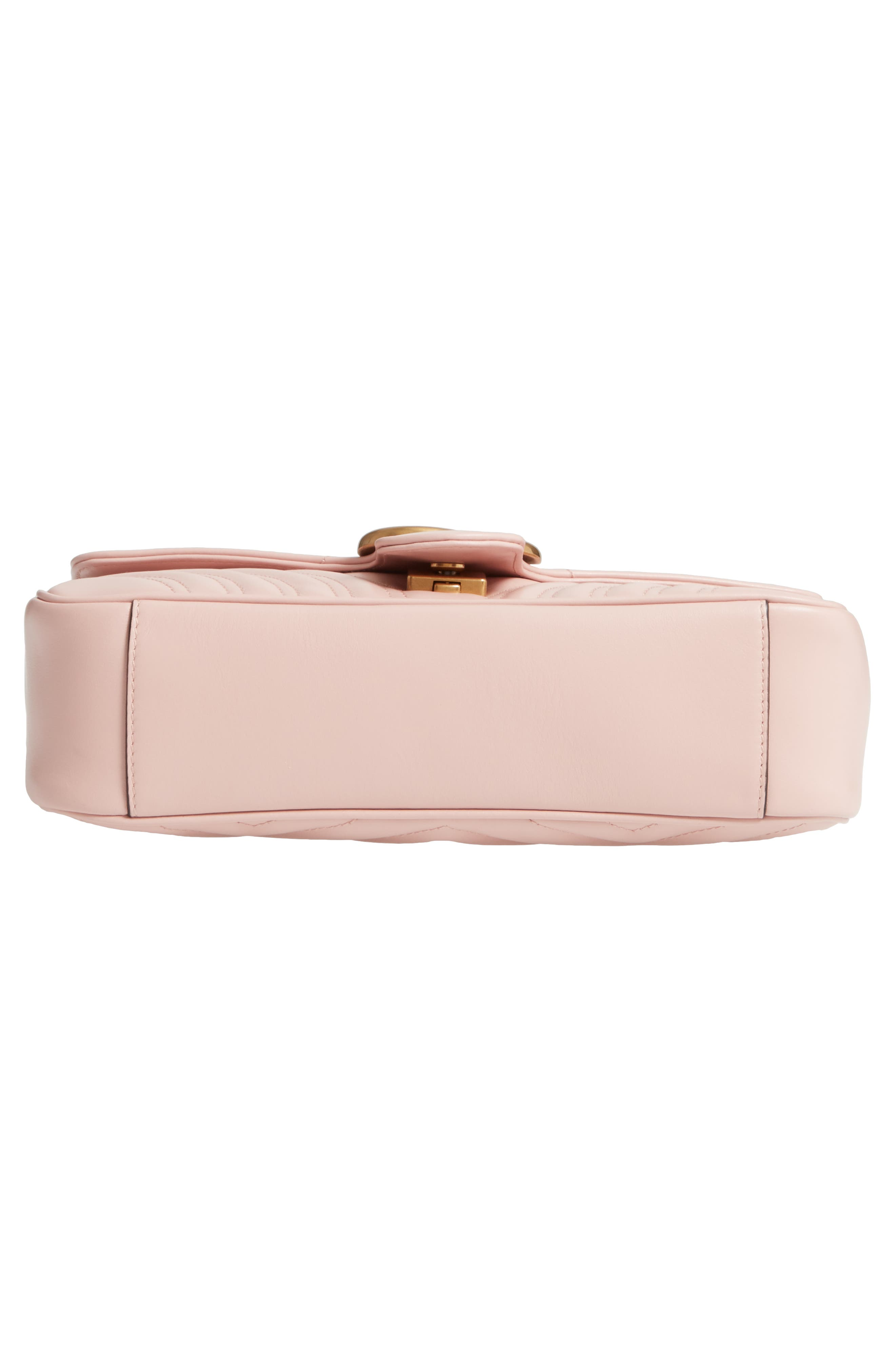 Small GG Marmont 2.0 Matelassé Leather Shoulder Bag,                             Alternate thumbnail 6, color,                             PERFECT PINK/ PERFECT PINK