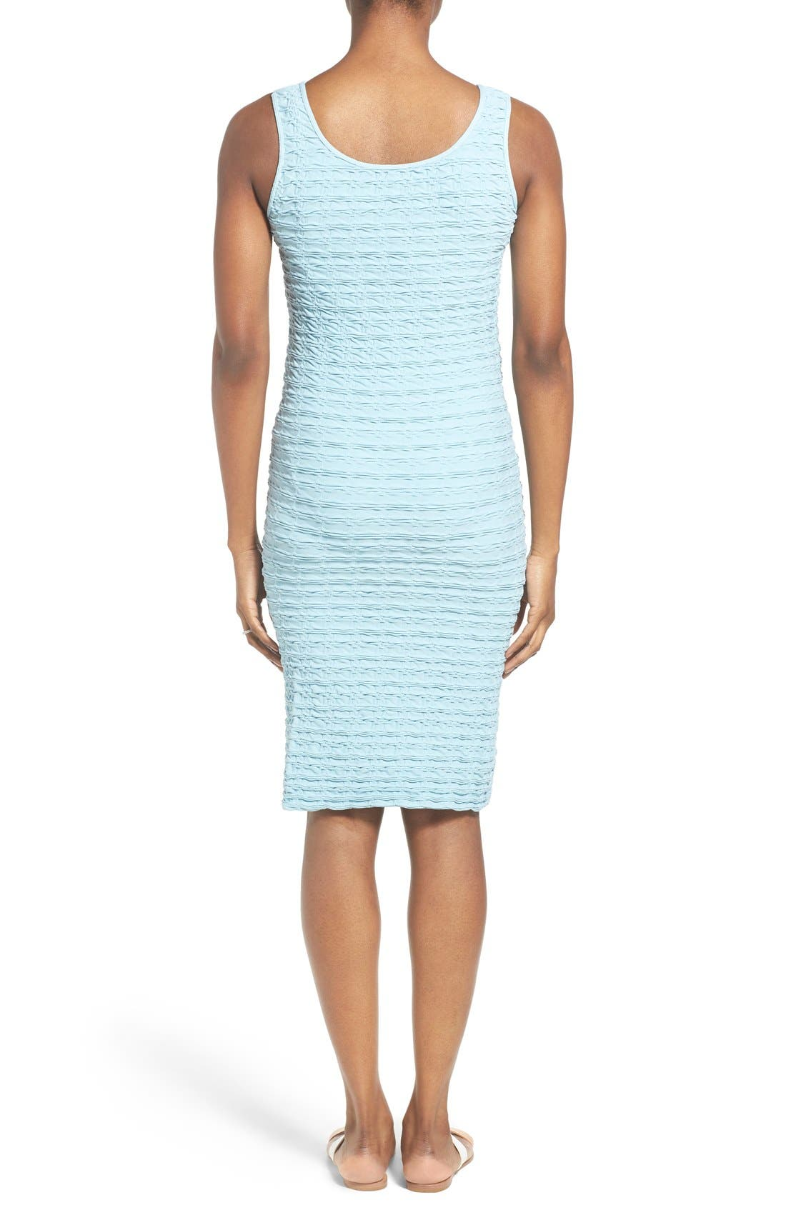 'Crinkle' Tank Maternity Dress,                             Alternate thumbnail 2, color,                             SKY BLUE