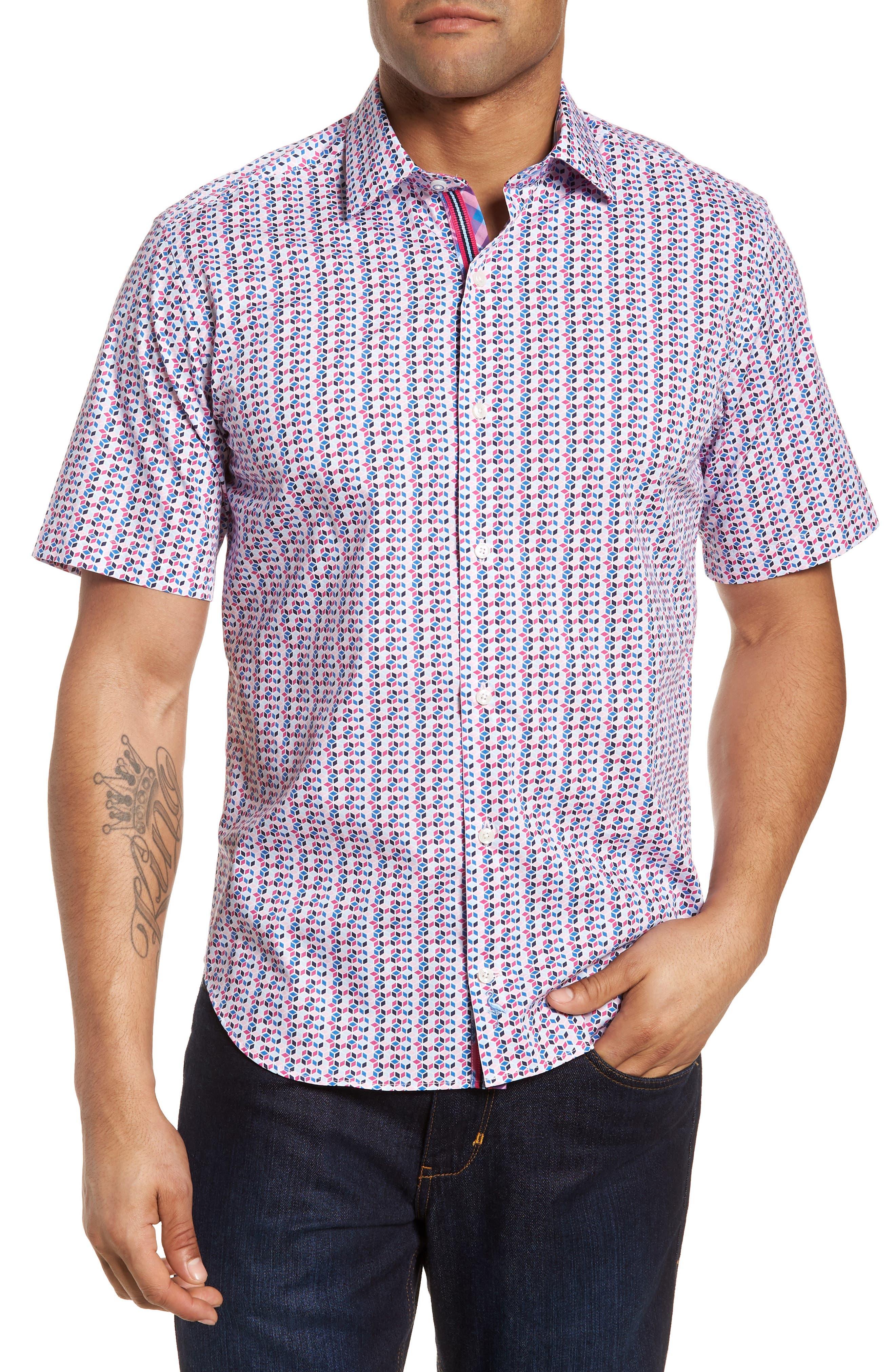 Slater Regular Fit Print Sport Shirt,                             Main thumbnail 1, color,                             650